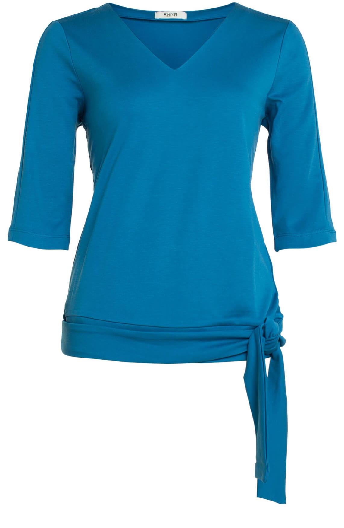 Anna Dames Shirt met ceintuur Blauw