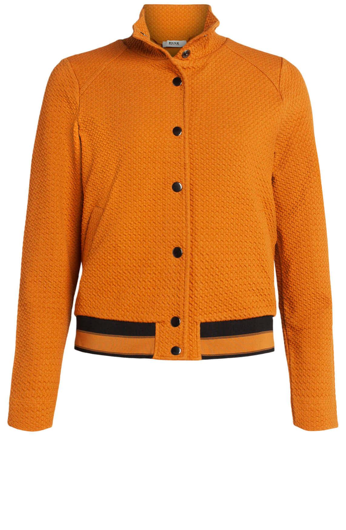 Anna Dames Vest met drukknopen Oranje