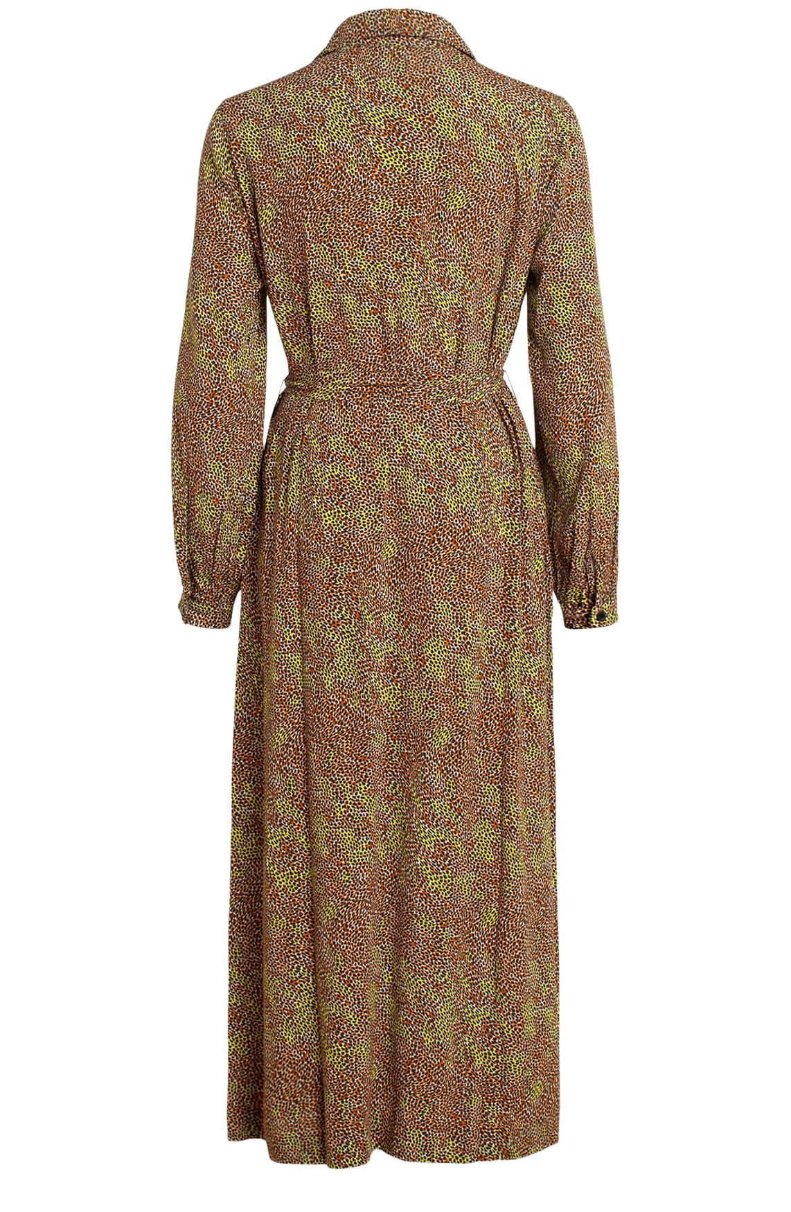 Anna Dames Lange jurk met animalprint Bruin