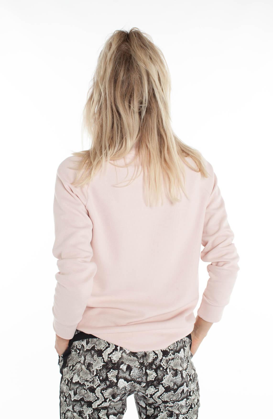 Anna Blue Dames Sweater met oversized kraag roze