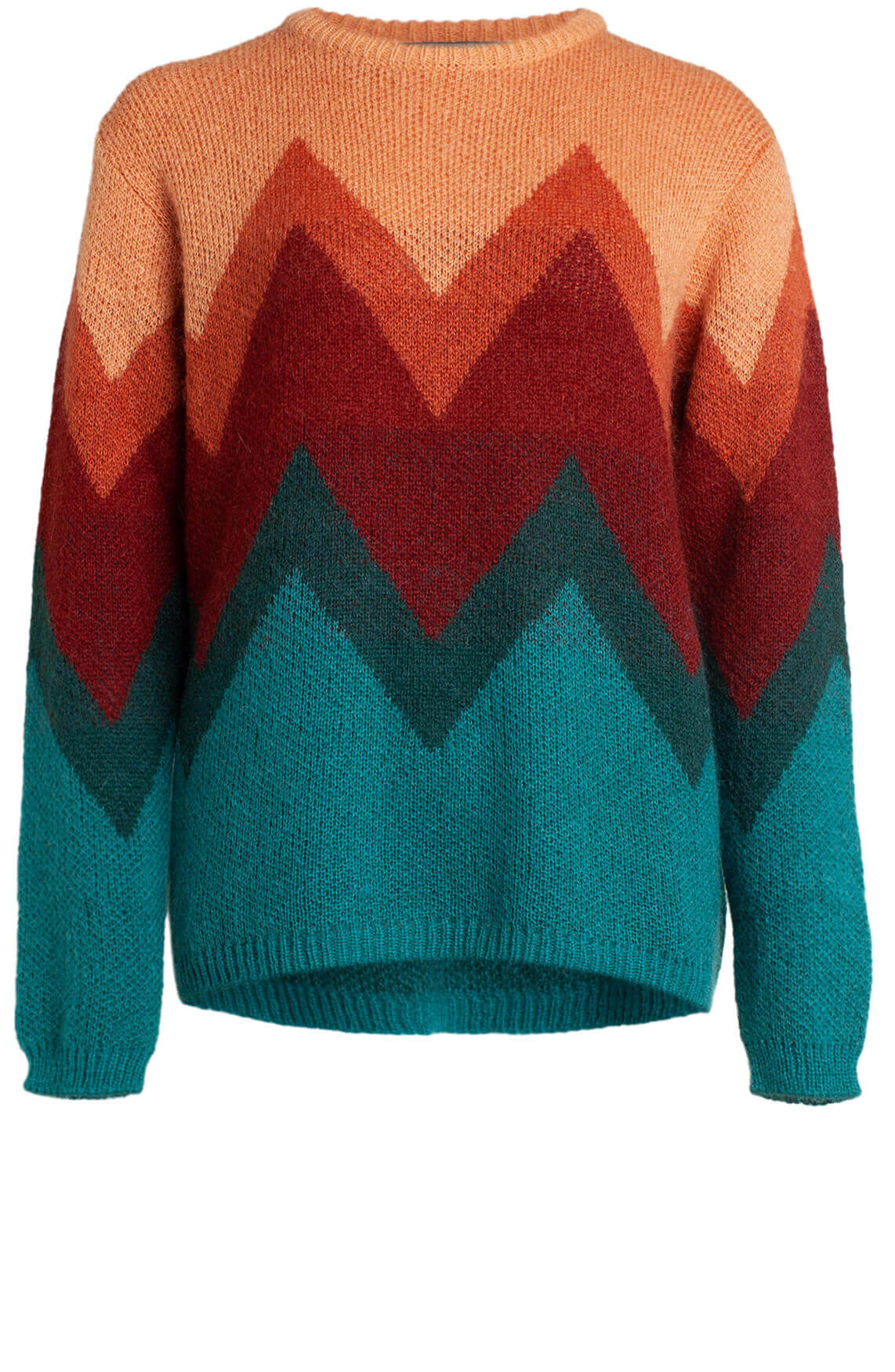 La Fée Maraboutée Dames Colourblock pullover Rood