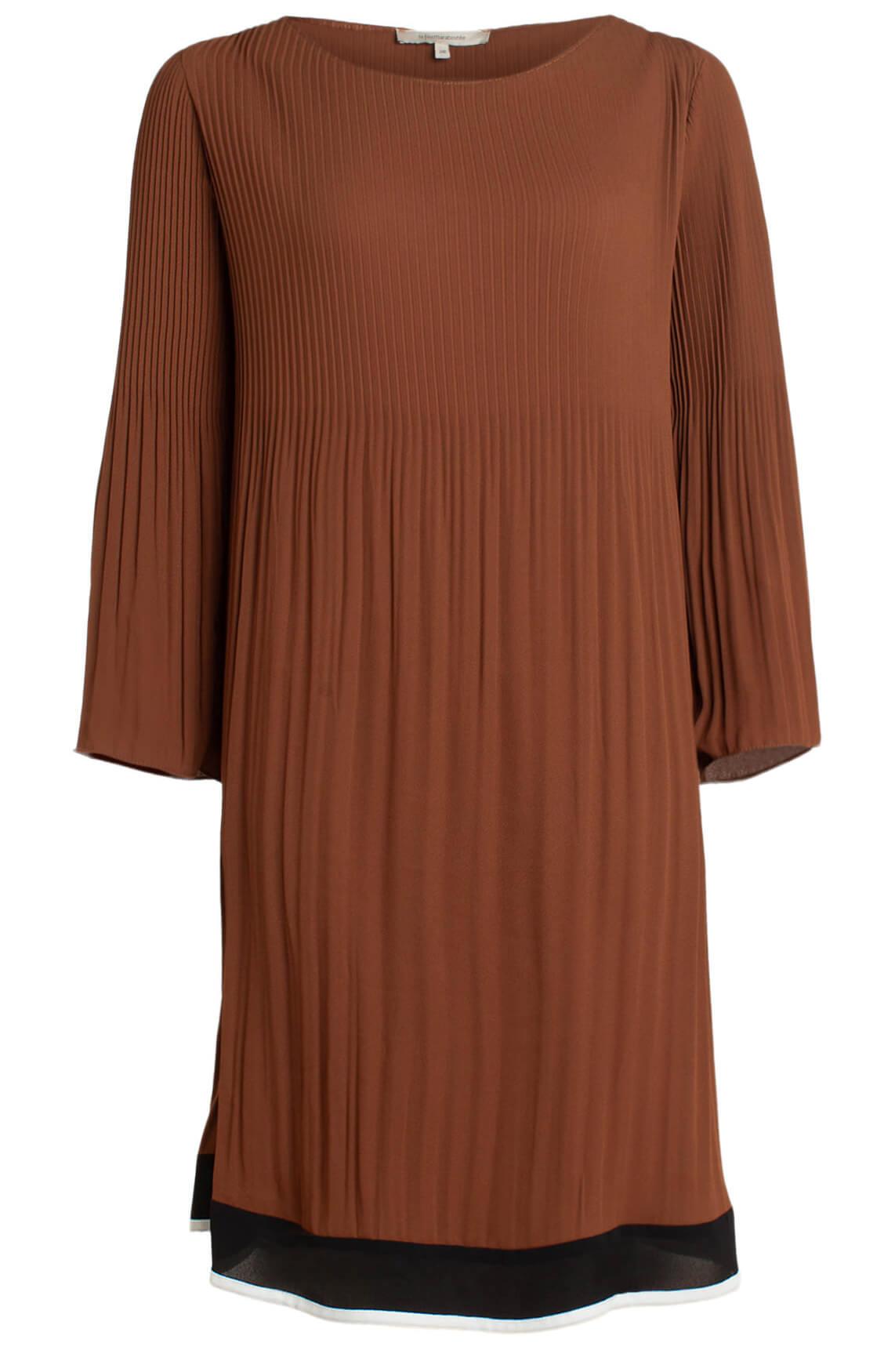 La Fée Maraboutée Dames Plissé jurk Bruin