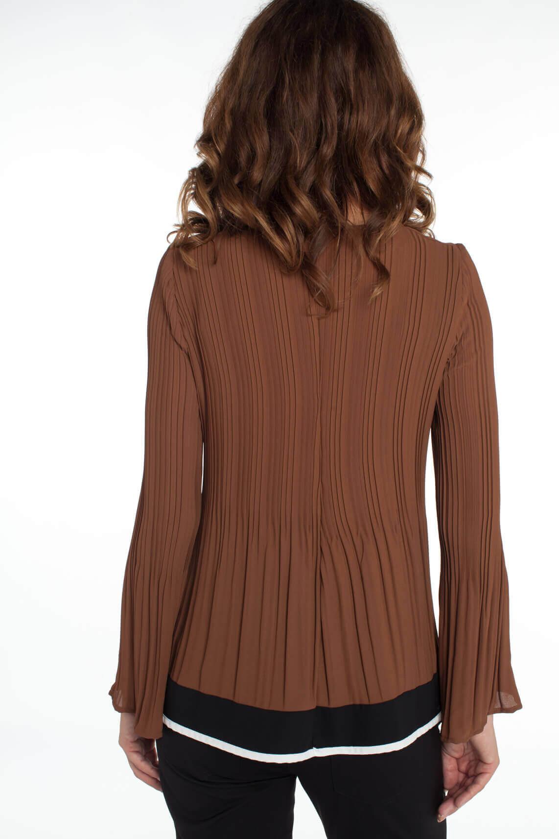 La Fée Maraboutée Dames Plissé blouse Bruin