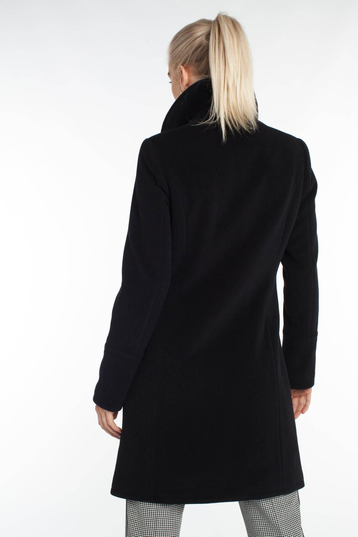 Anna Dames Mantel zwart