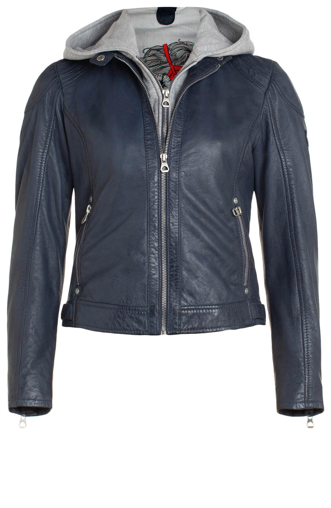 Gipsy Dames Angy leren jack Blauw