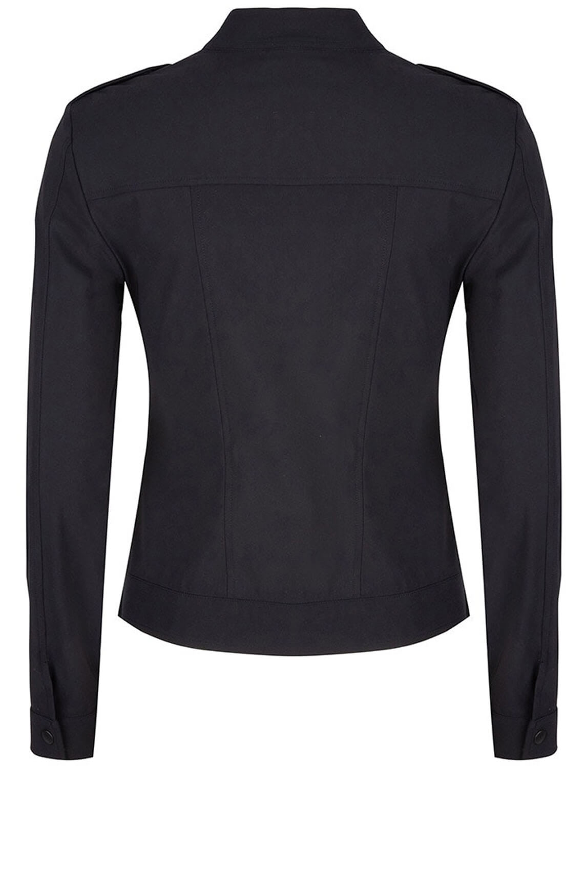 Jane Lushka Dames Military jersey blazer zwart