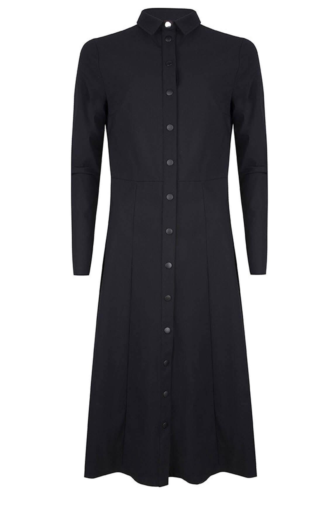 Jane Lushka Dames Jersey jurk zwart