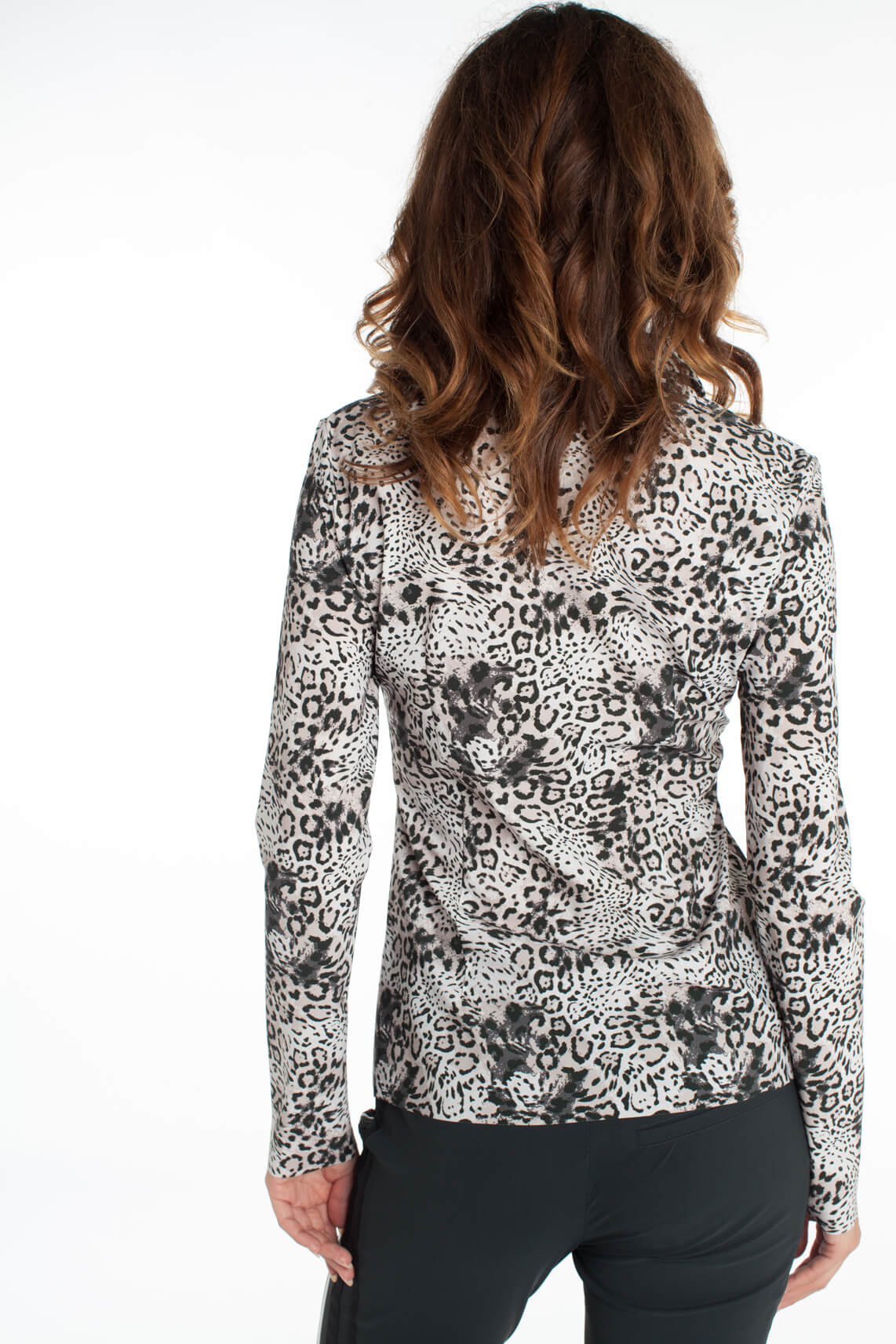 Jane Lushka Dames Blouse met animalprint Ecru