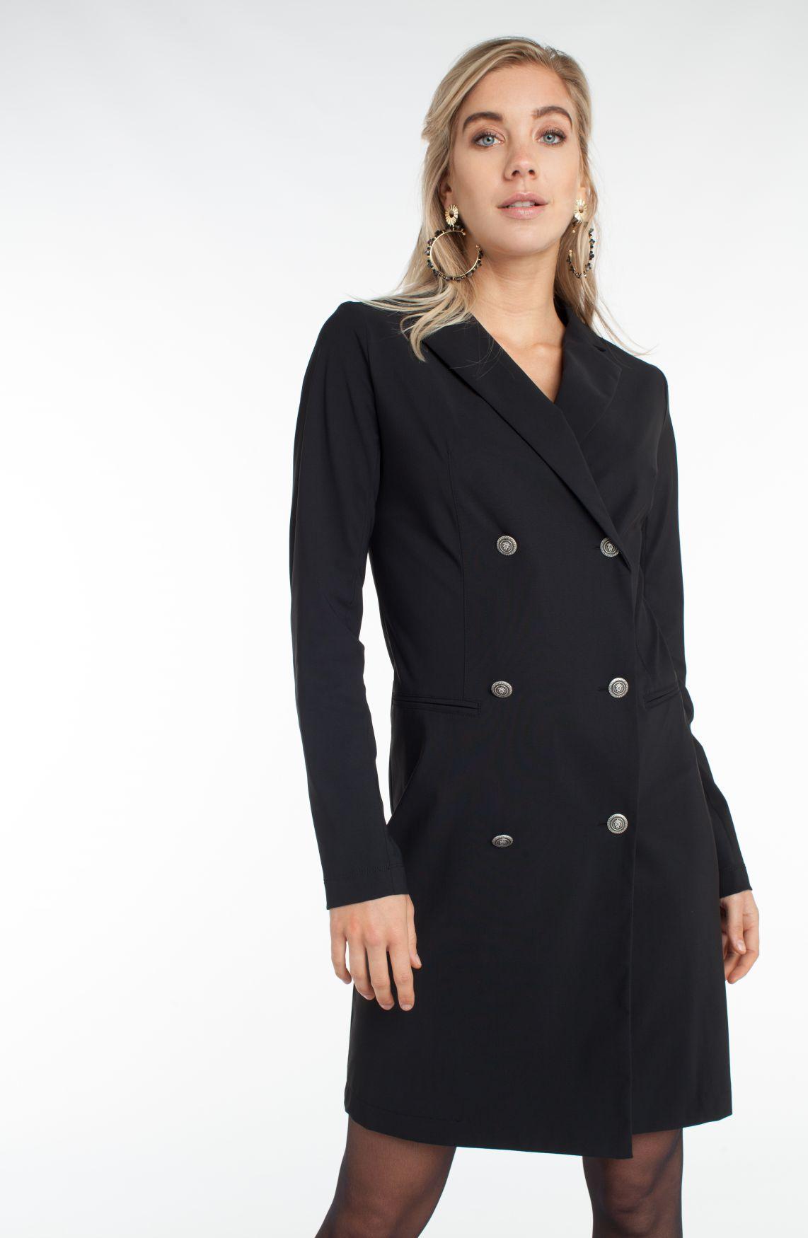 Jane Lushka Dames Double breasted blazerjurk zwart