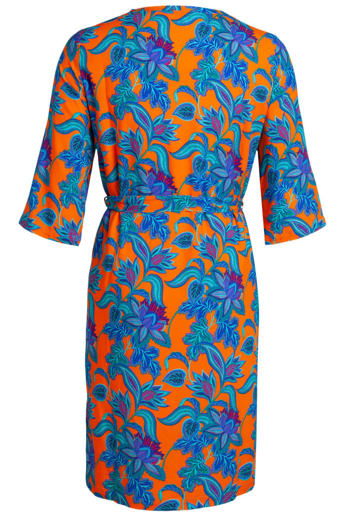 Anna Dames Jurk met bloemenprint Oranje