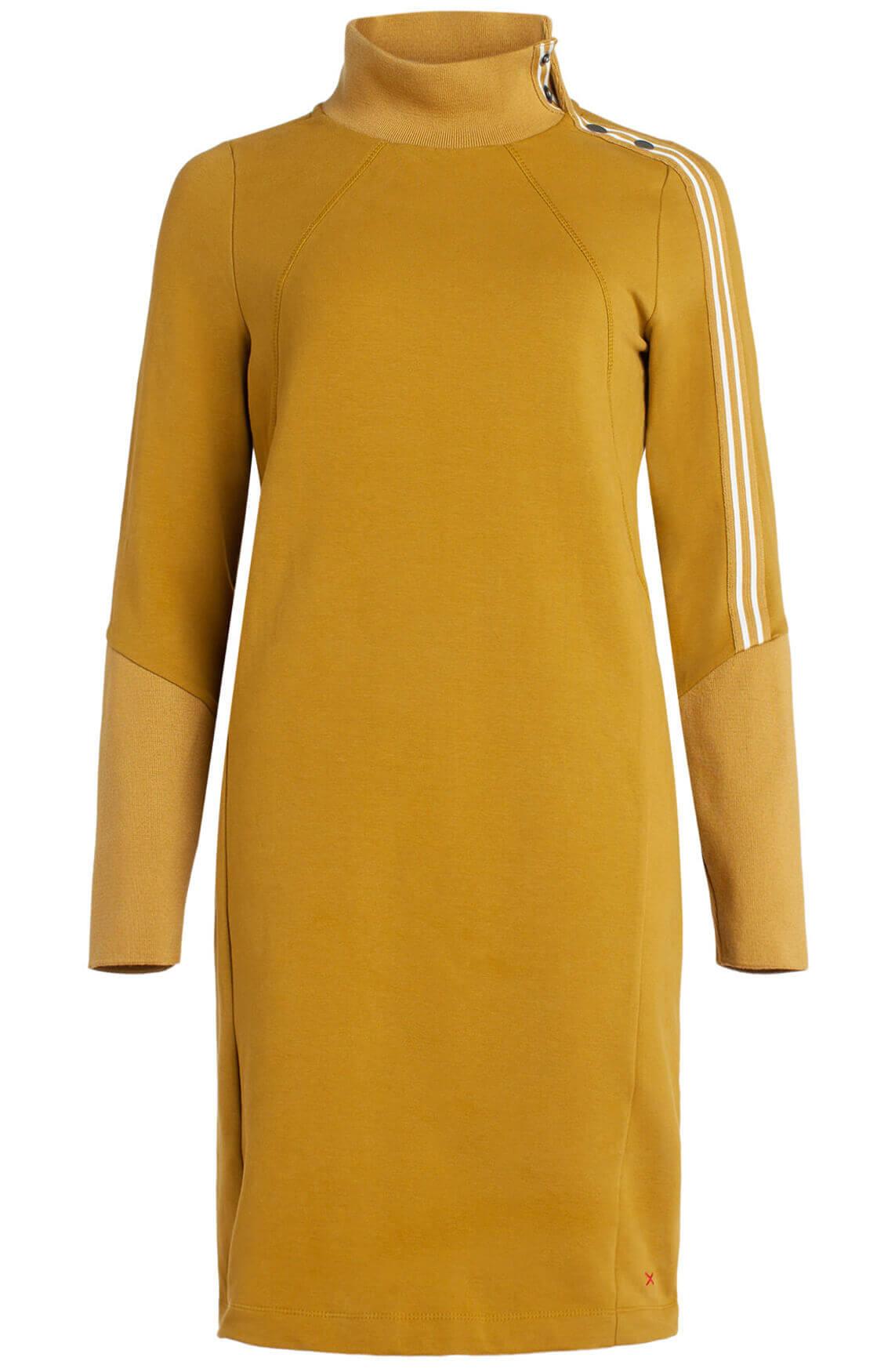 Anna Blue Dames Jurk met kraag geel