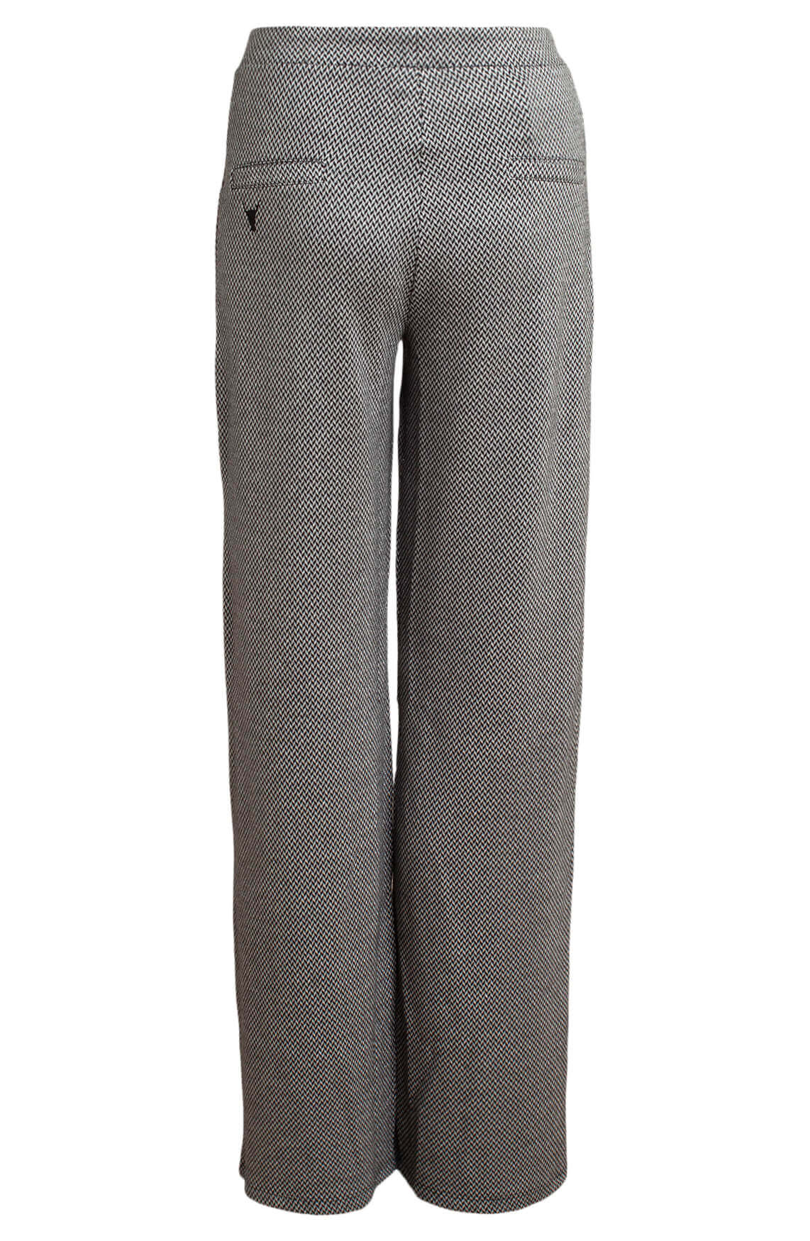 Alix The Label Dames Wijde pantalon met dessin zwart