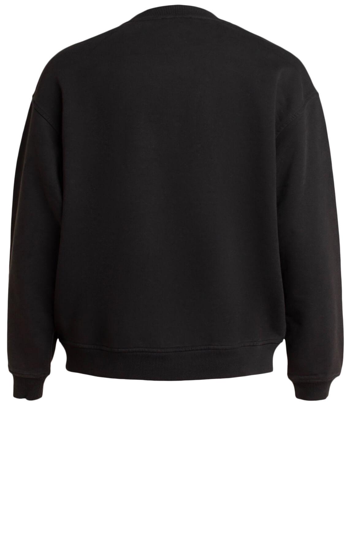 Alix The Label Dames Sweater met opdruk zwart