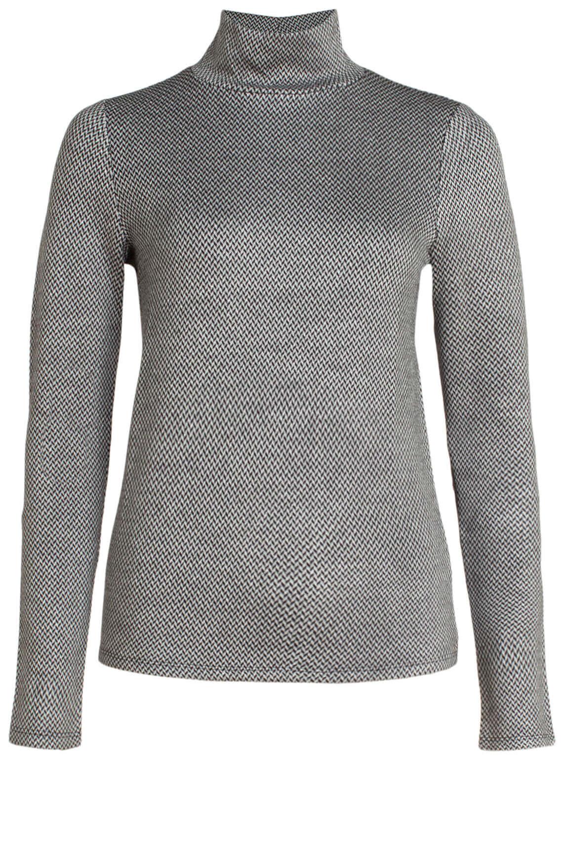 Alix The Label Dames Shirt met dessin zwart