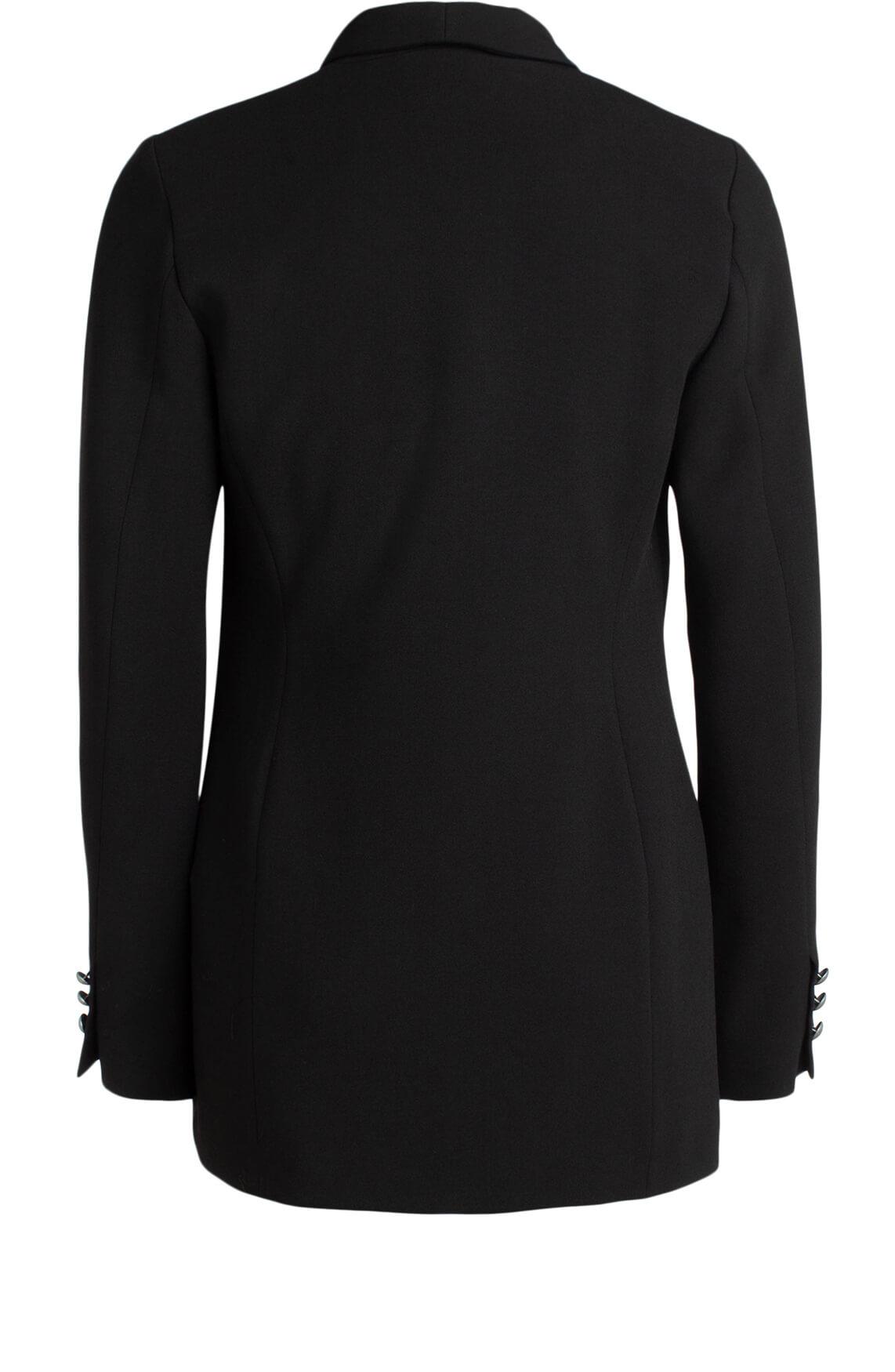 Anna Dames Double-breasted blazer zwart