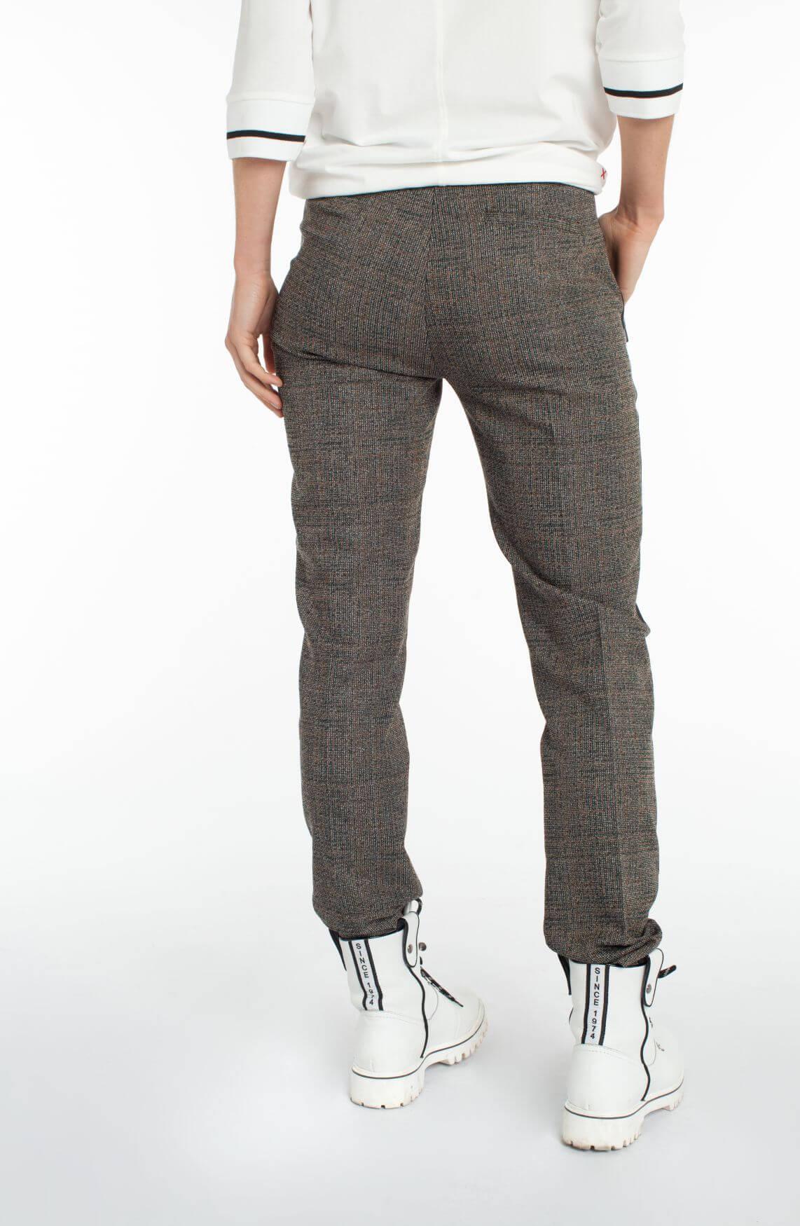Anna Blue Dames Jacquard pantalon zwart
