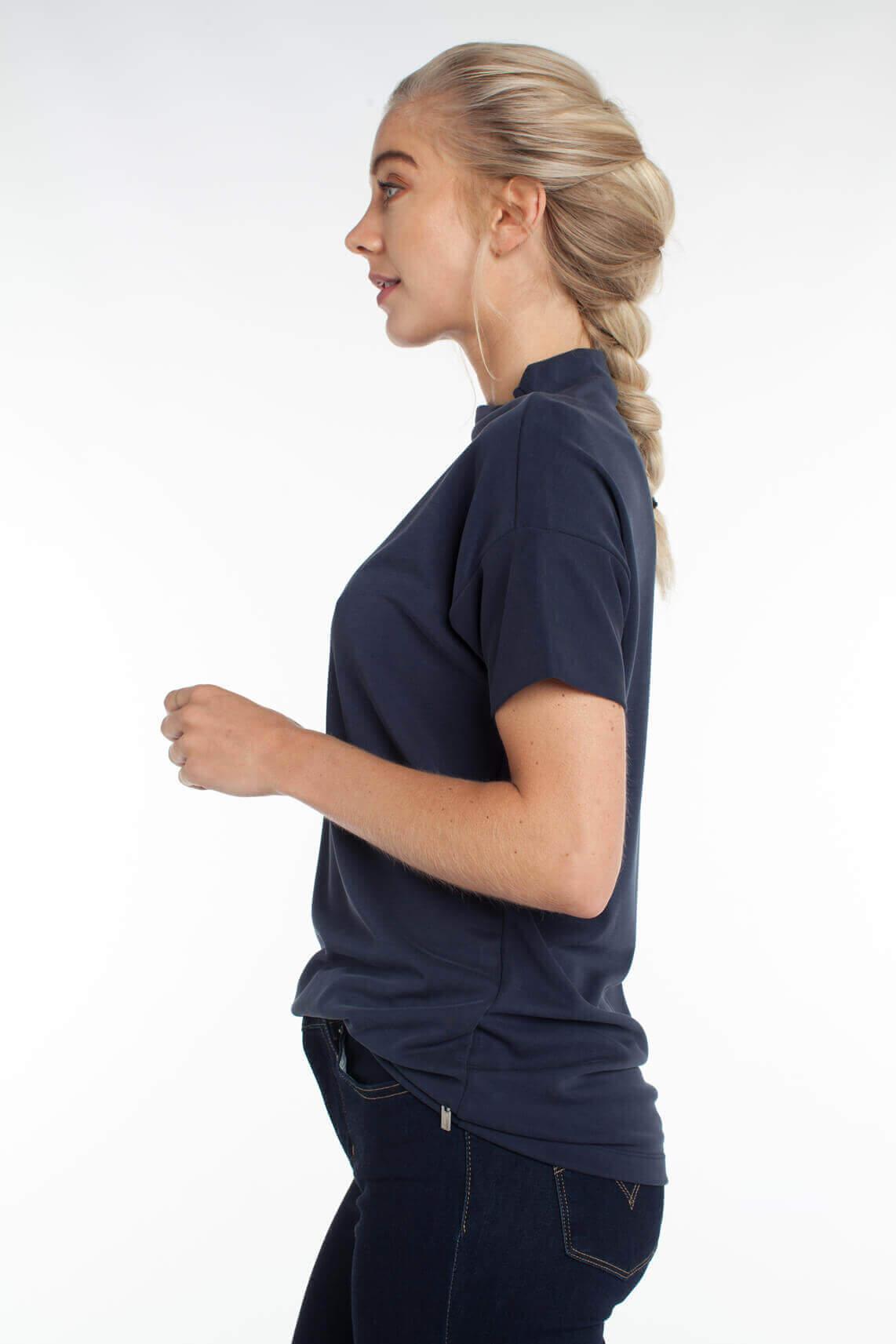Anna Dames Shirt met turtleneck Blauw