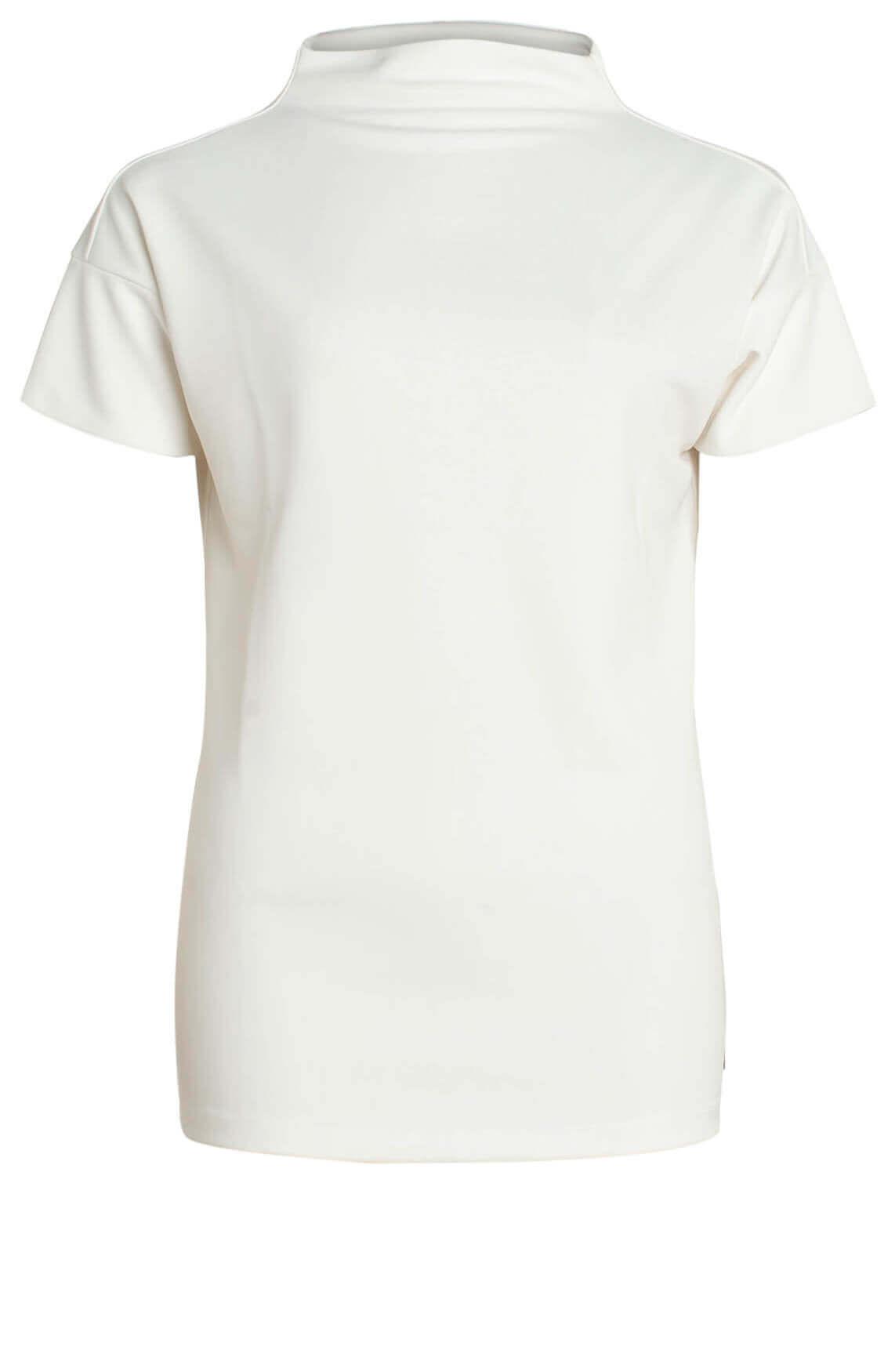 Anna Dames Shirt met hoge kraag wit