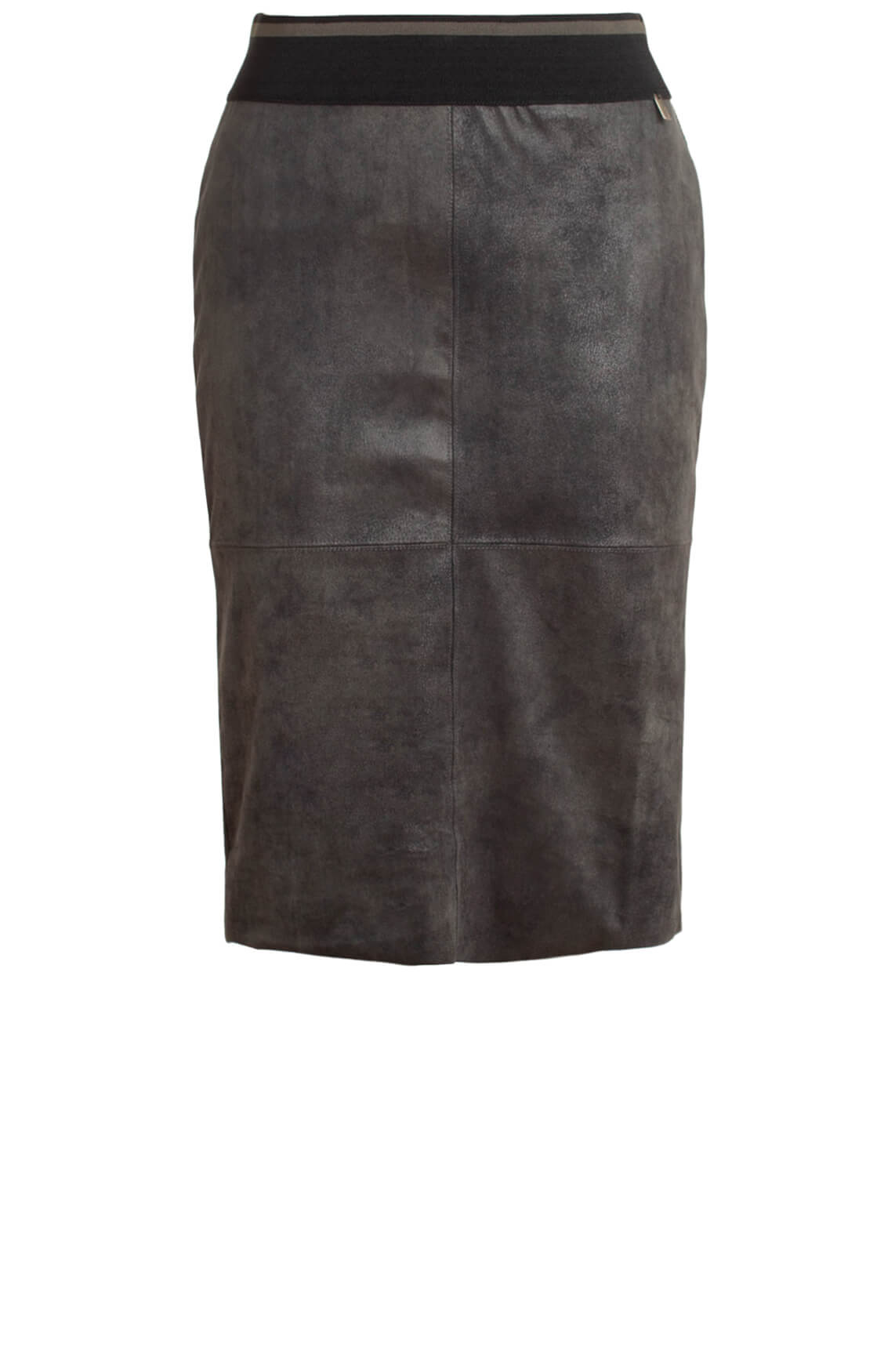 Anna Dames Fake leather rok groen