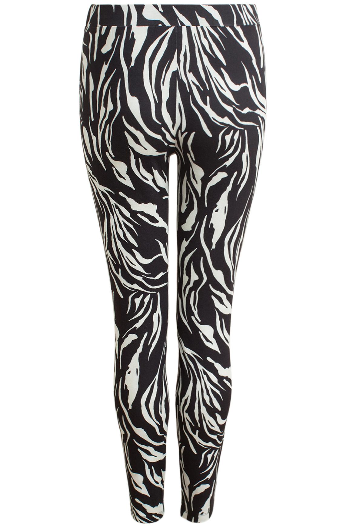 Anna Dames Zebraprint legging zwart