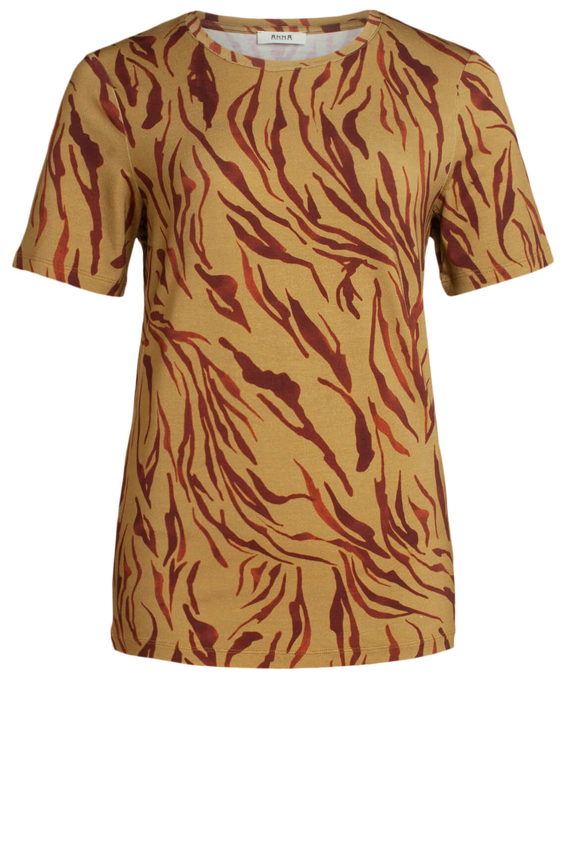 Anna Dames Shirt met animalprint geel