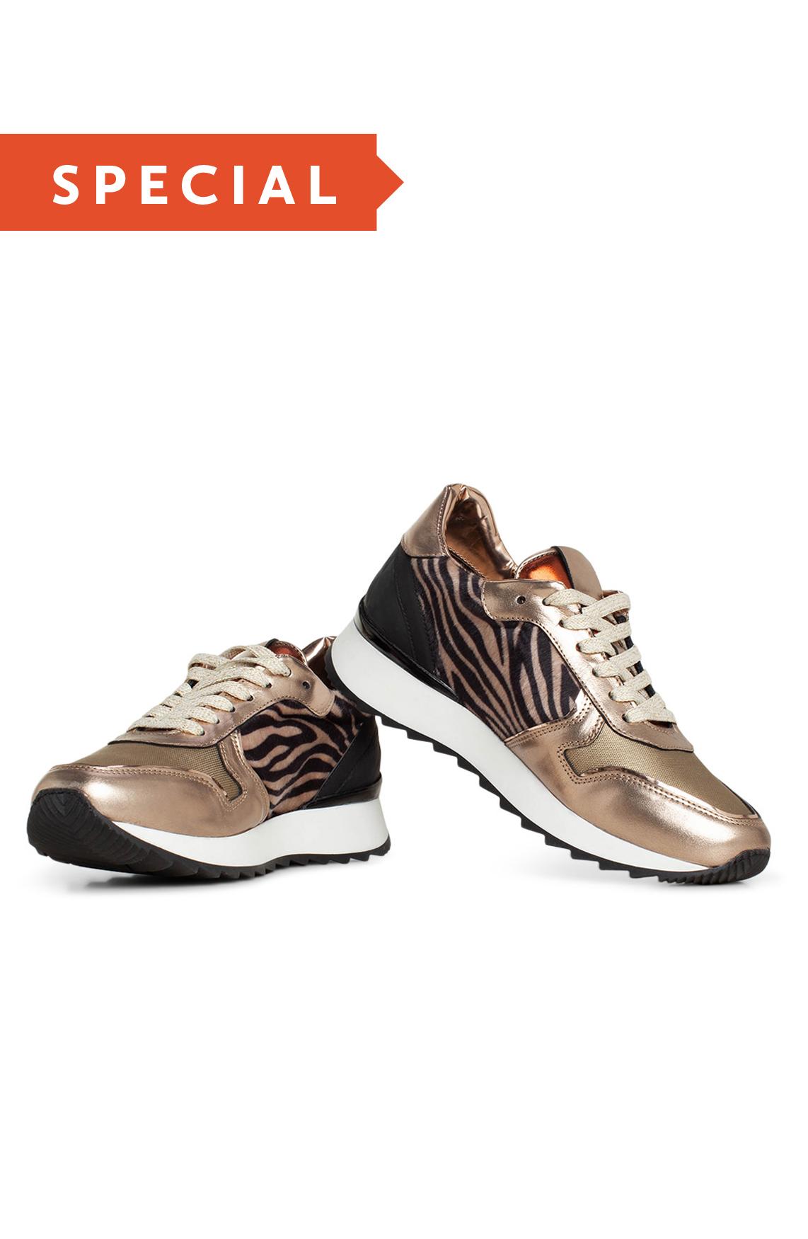Hip Dames Metallic zebra sneaker 0
