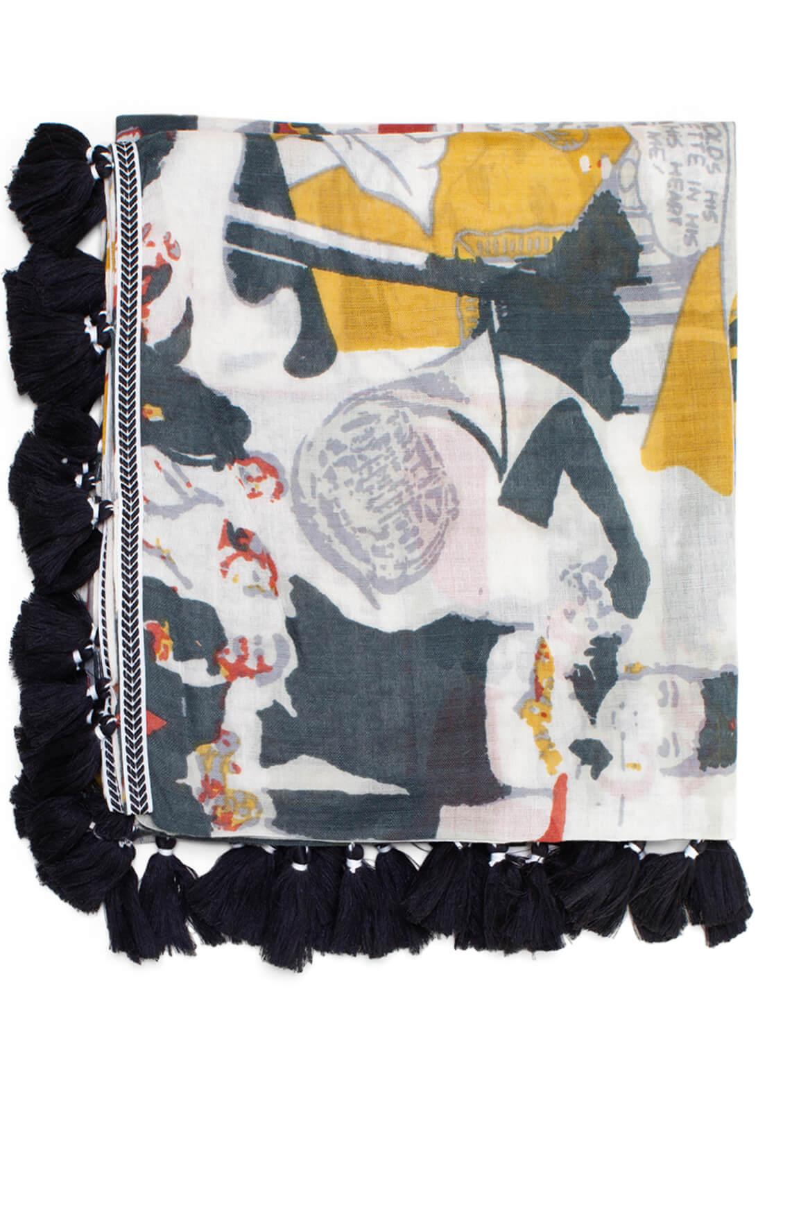Anna Dames Shawl met popart wit
