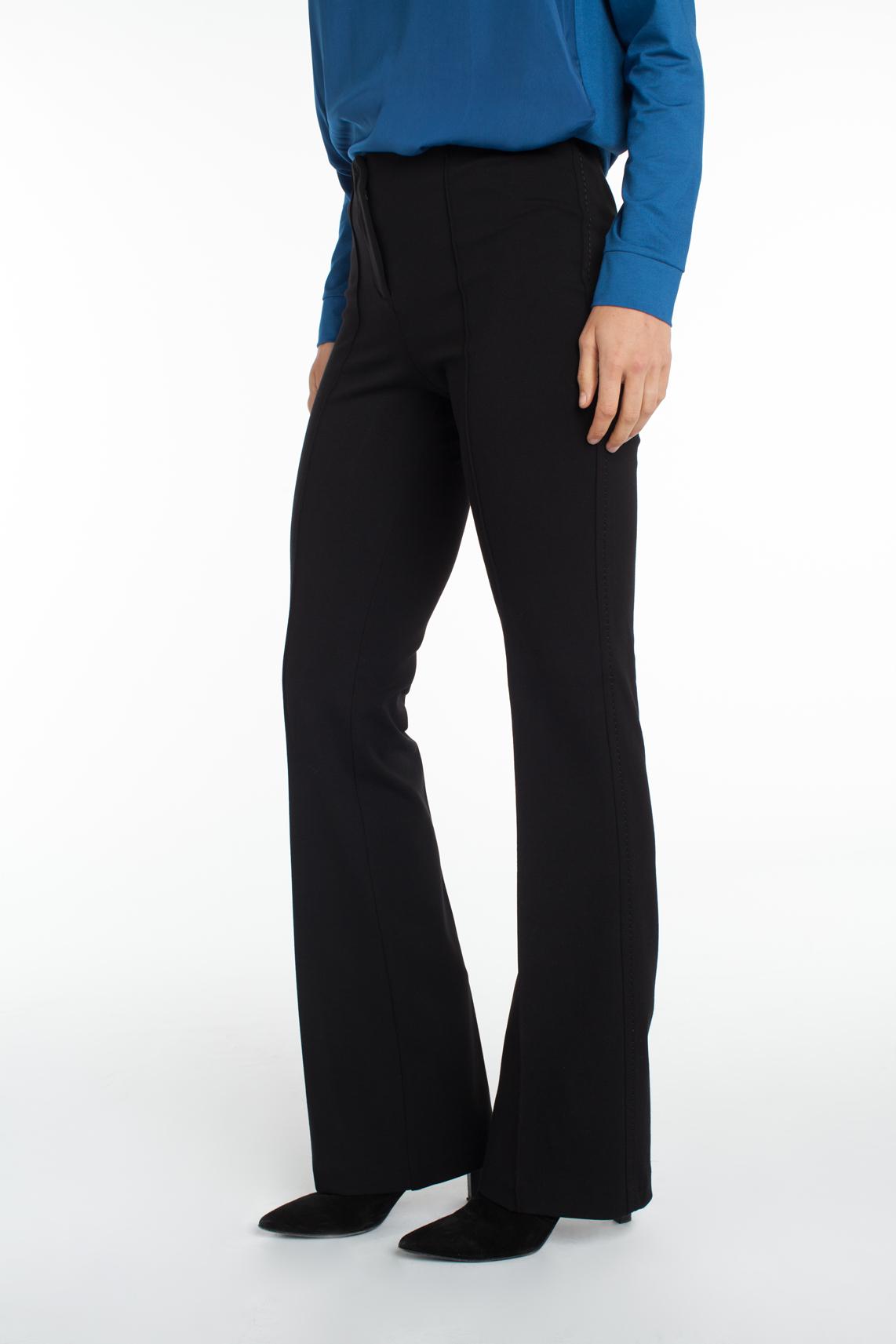 Cambio Dames Ros flared pantalon zwart