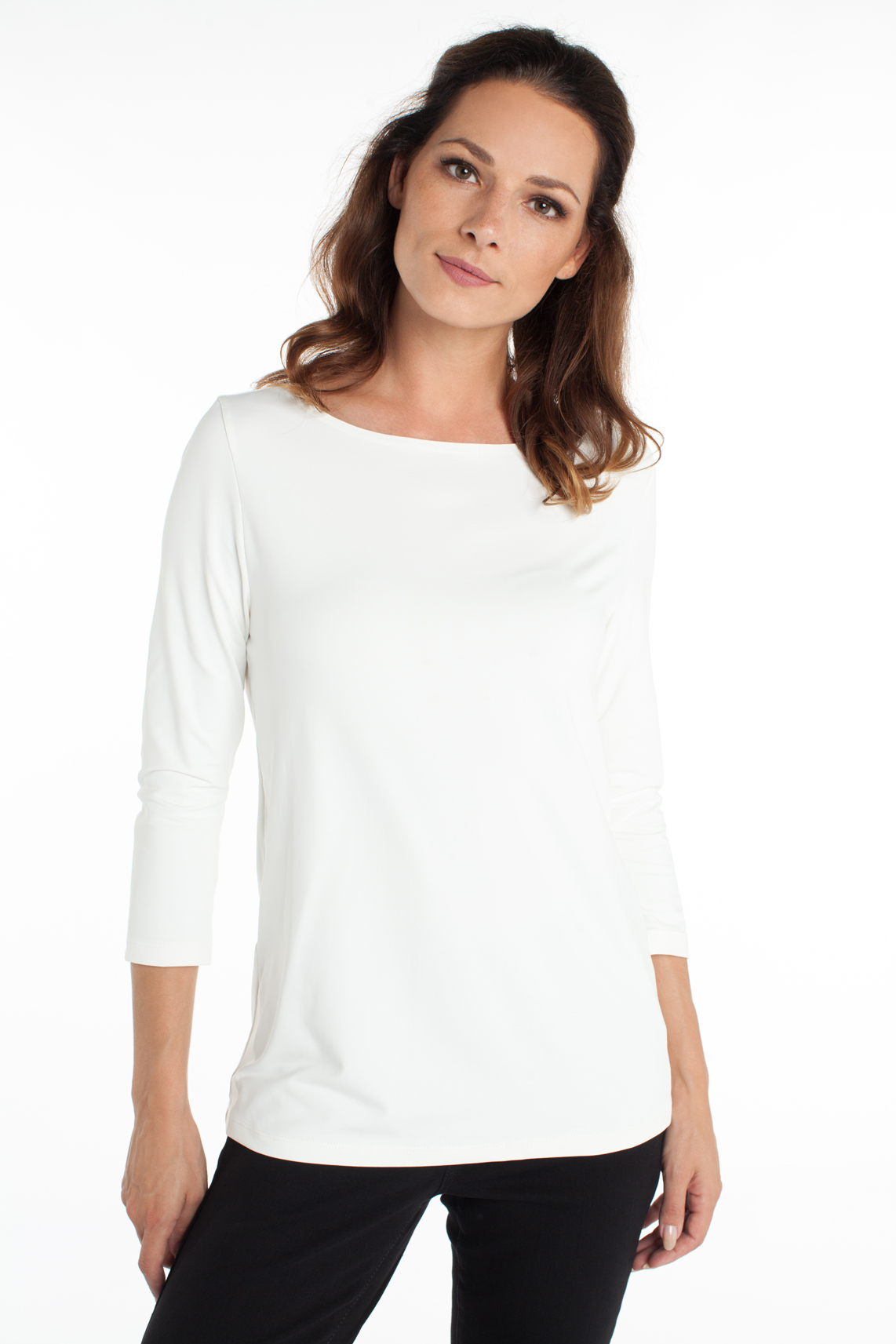 Anna Dames Seamless shirt wit