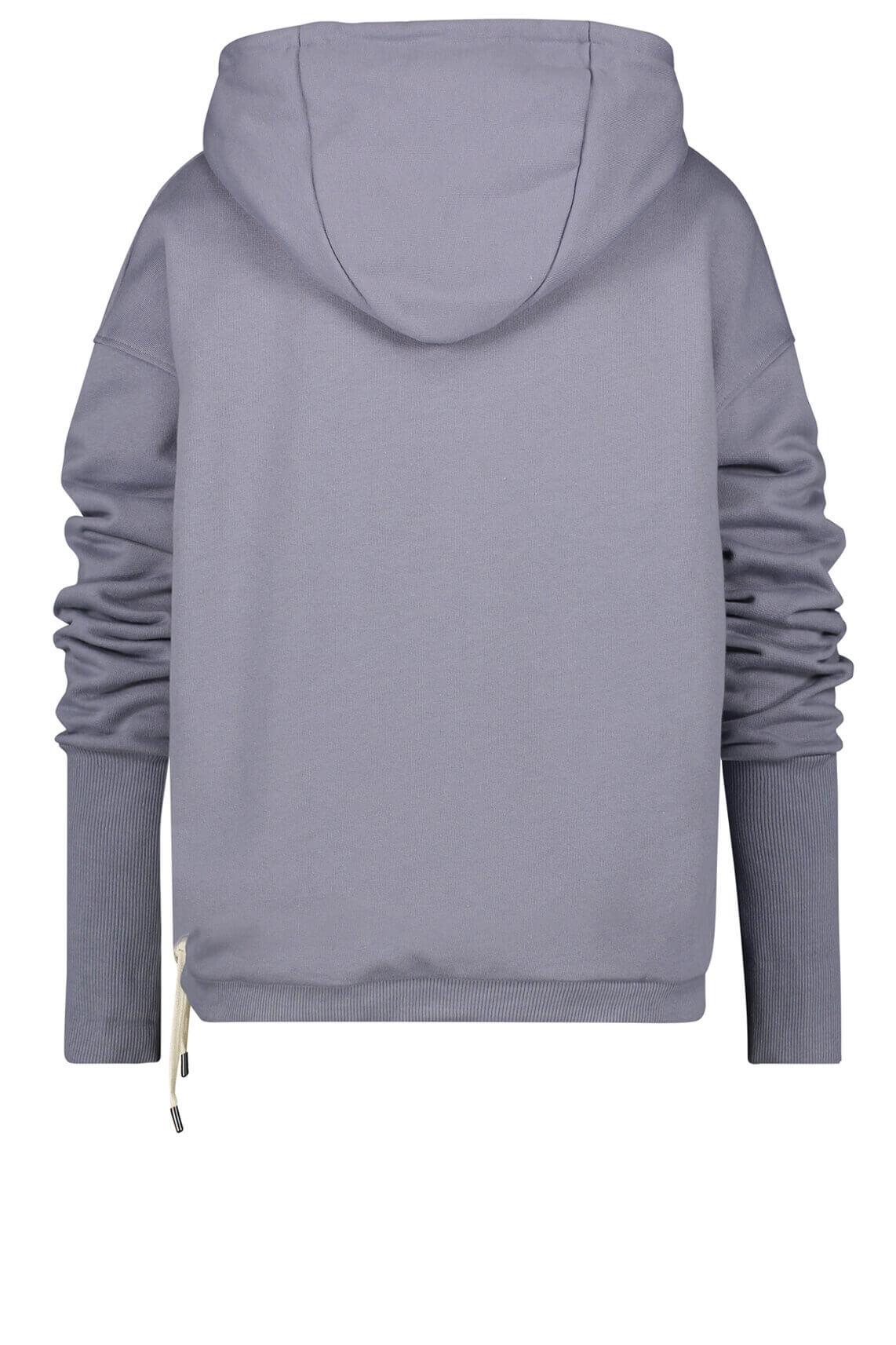 Penn & Ink Dames Sweater met koordsluiting Paars