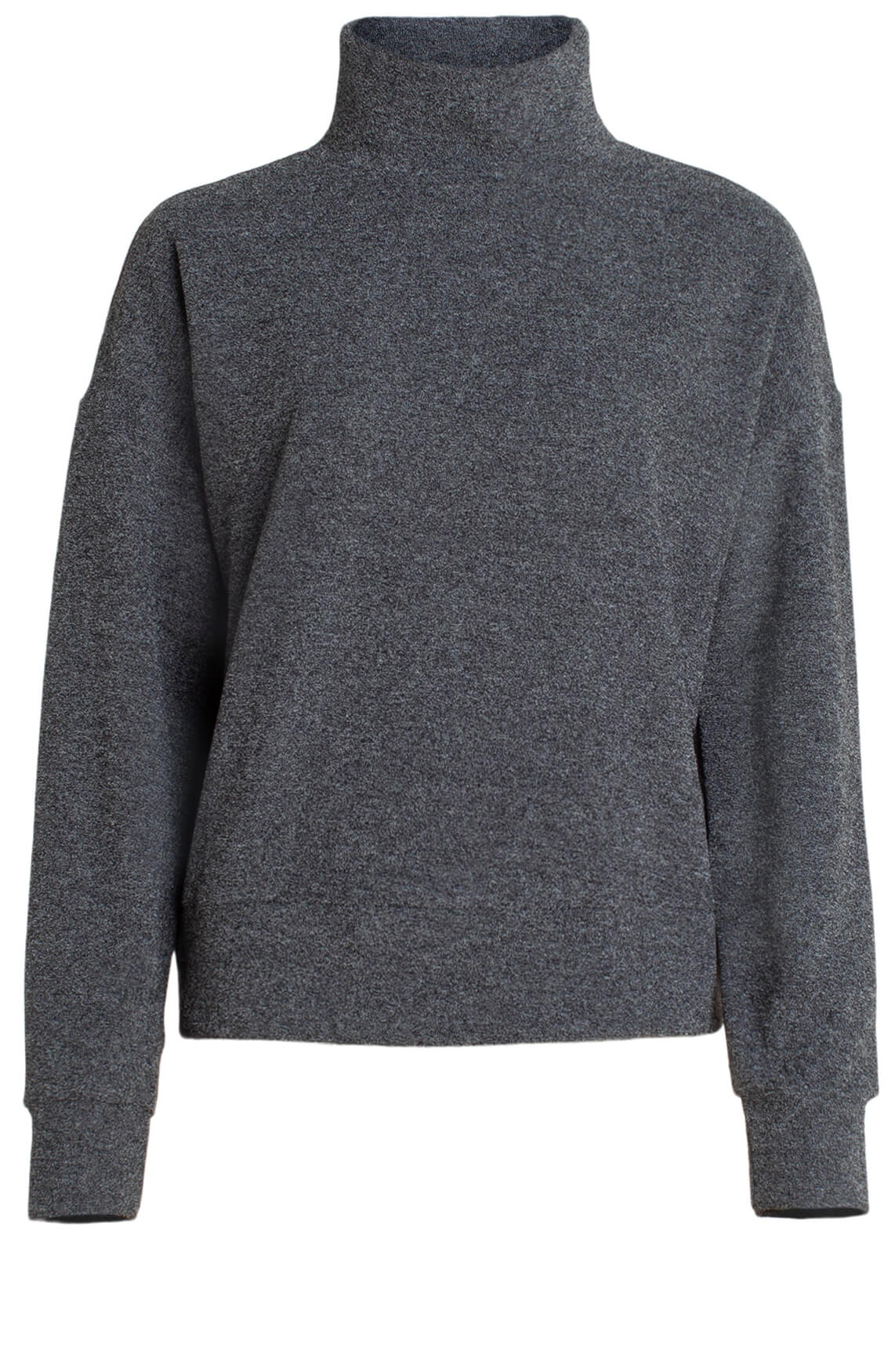 Penn & Ink Dames Sweater met col zwart