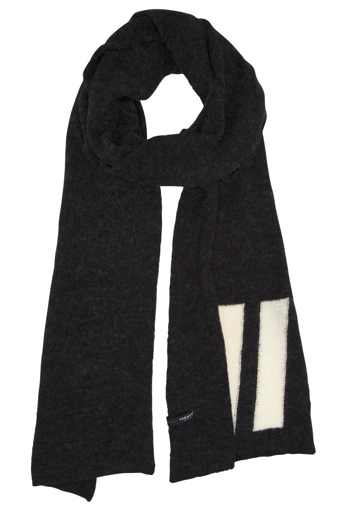 10 Days Dames Wollen shawl Grijs