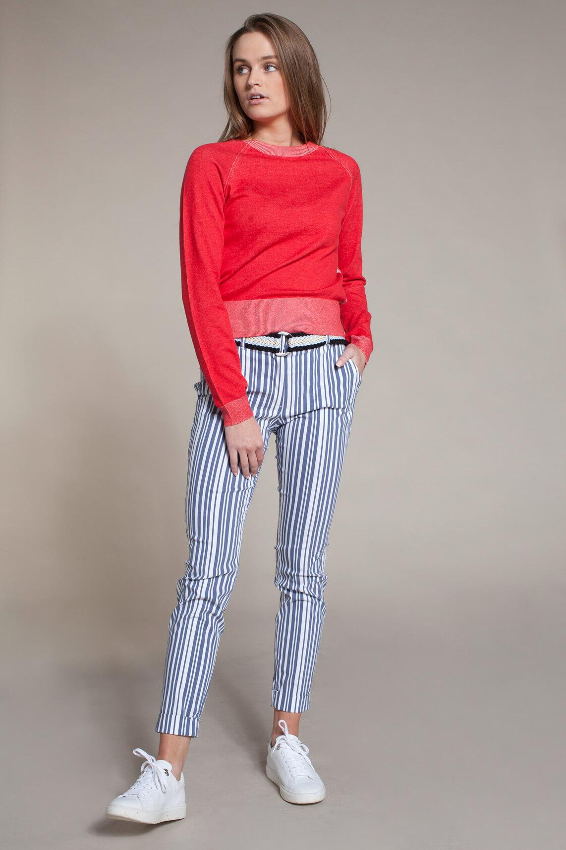 Anna Blue Dames Fijngebreide pullover Rood
