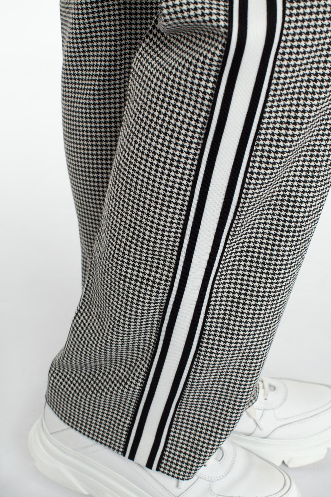 Anna Dames Pied-de-poule pantalon zwart