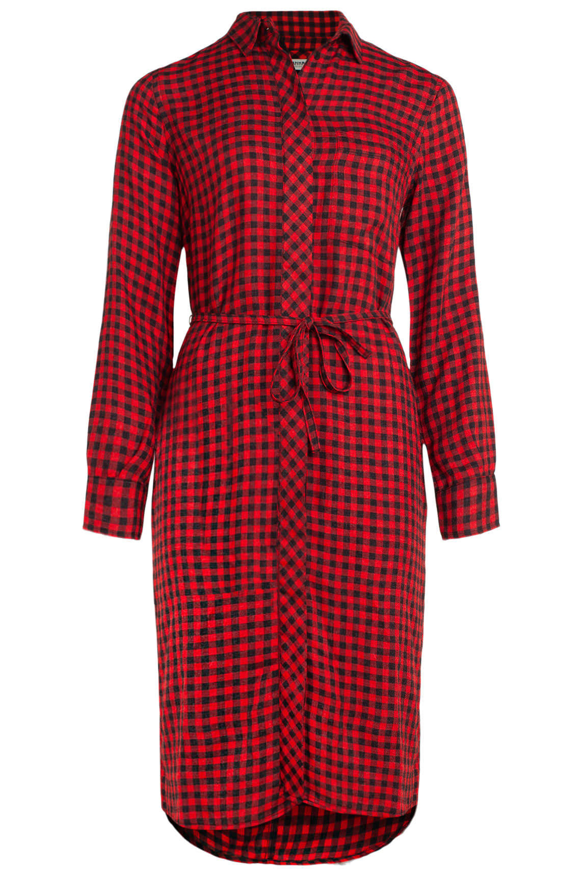 Anna Blue Dames Geruite jurk Rood