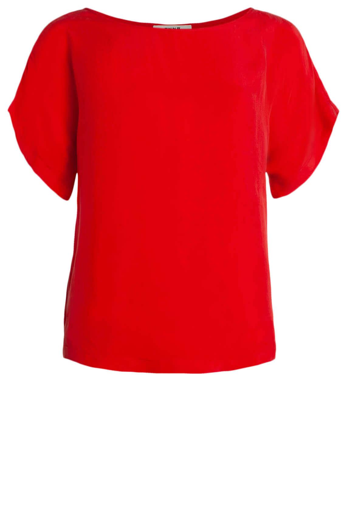 Anna Dames Cupro shirt Rood
