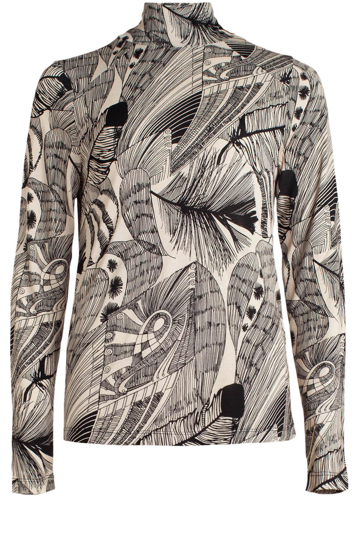 Anna Dames Shirt met col zwart