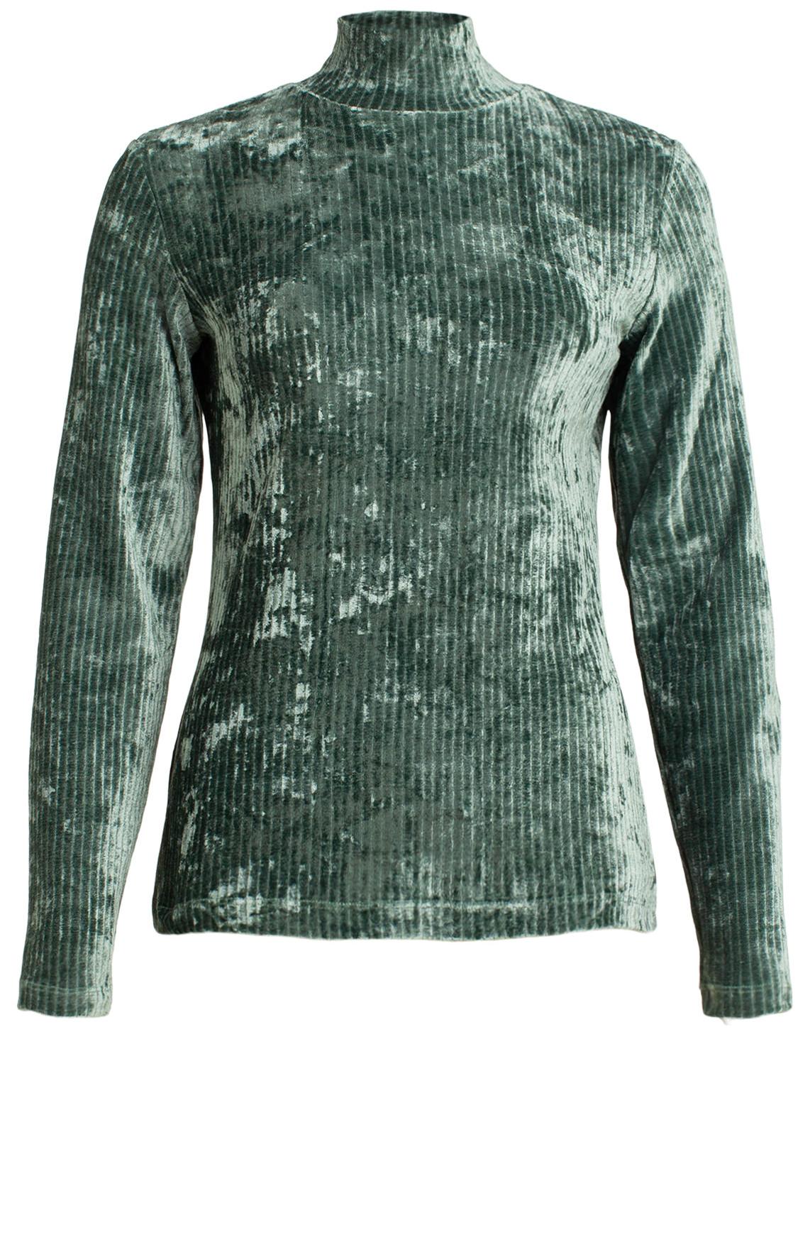 Anna Dames Velvet pullover groen