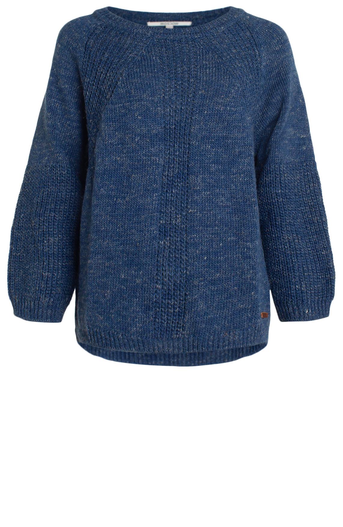 Moscow Dames Grofgebreide pullover Blauw