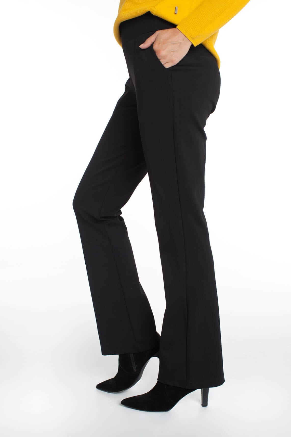 Anna Dames Flared broek zwart