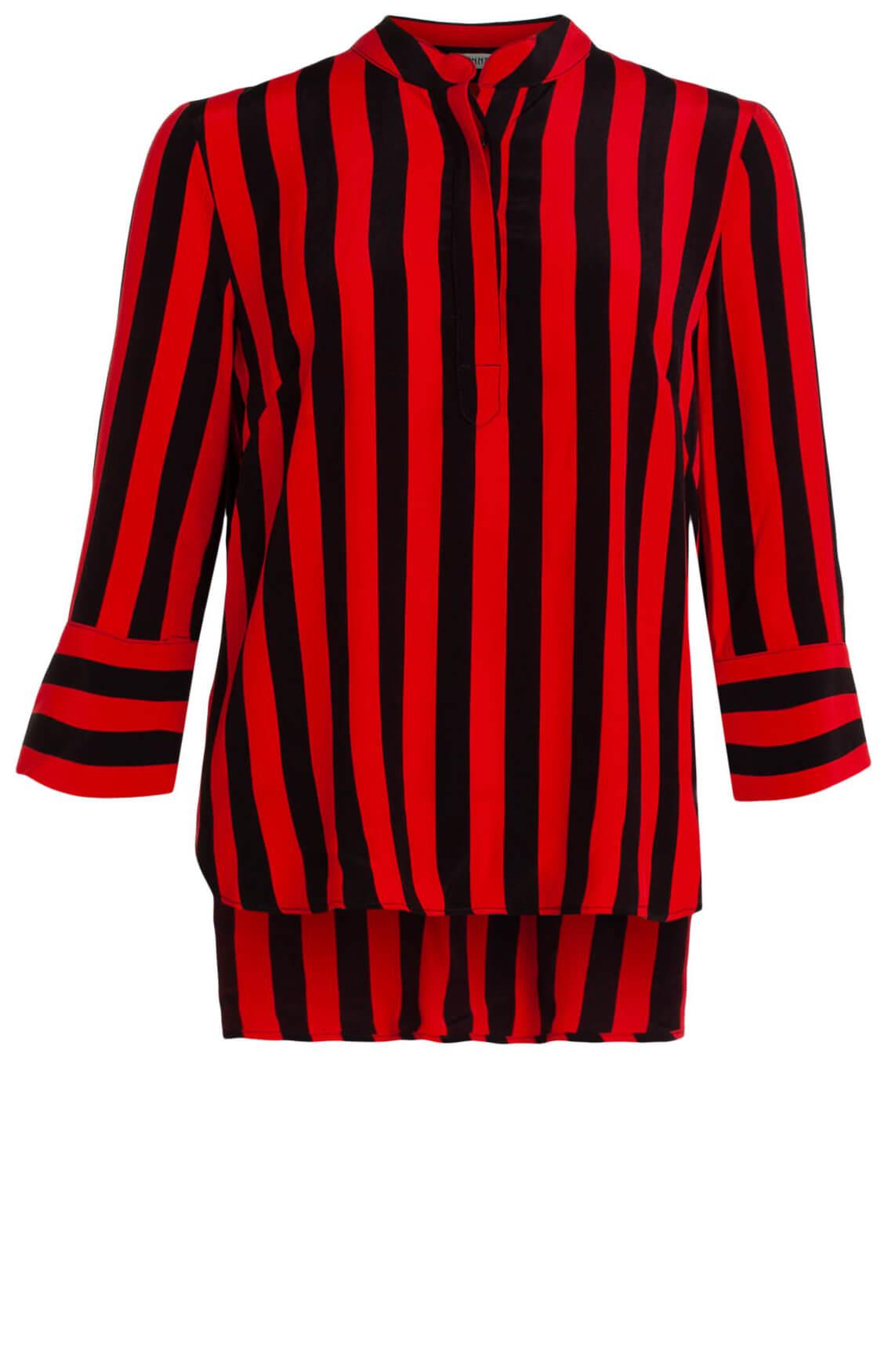 Anna Dames Gestreepte blouse Rood