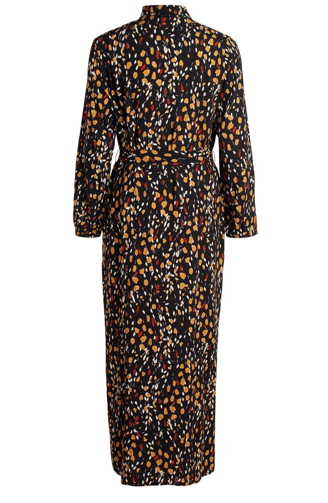 Anna Dames Maxi jurk met stippenprint geel