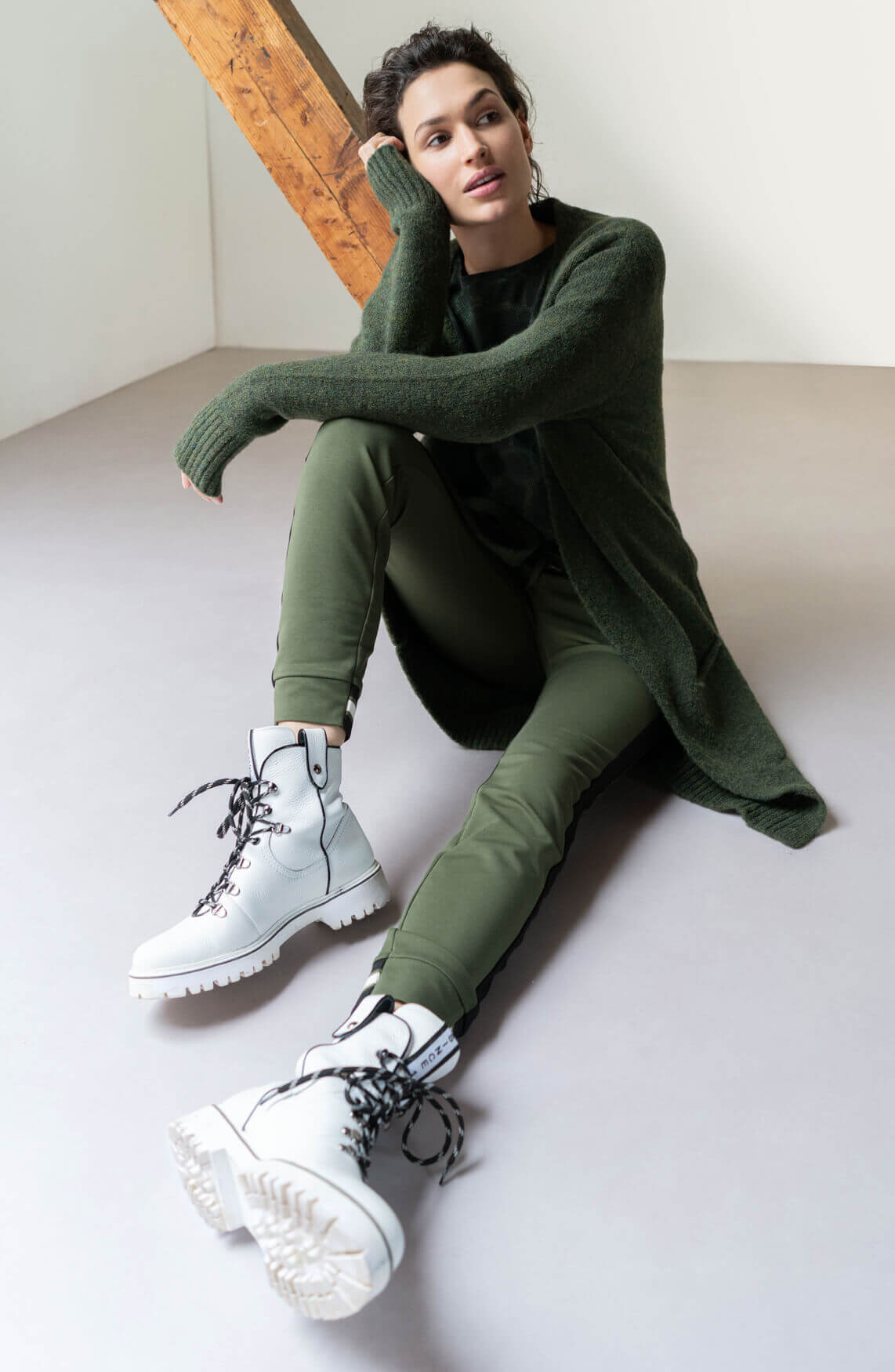Anna Dames Gebreid vest groen