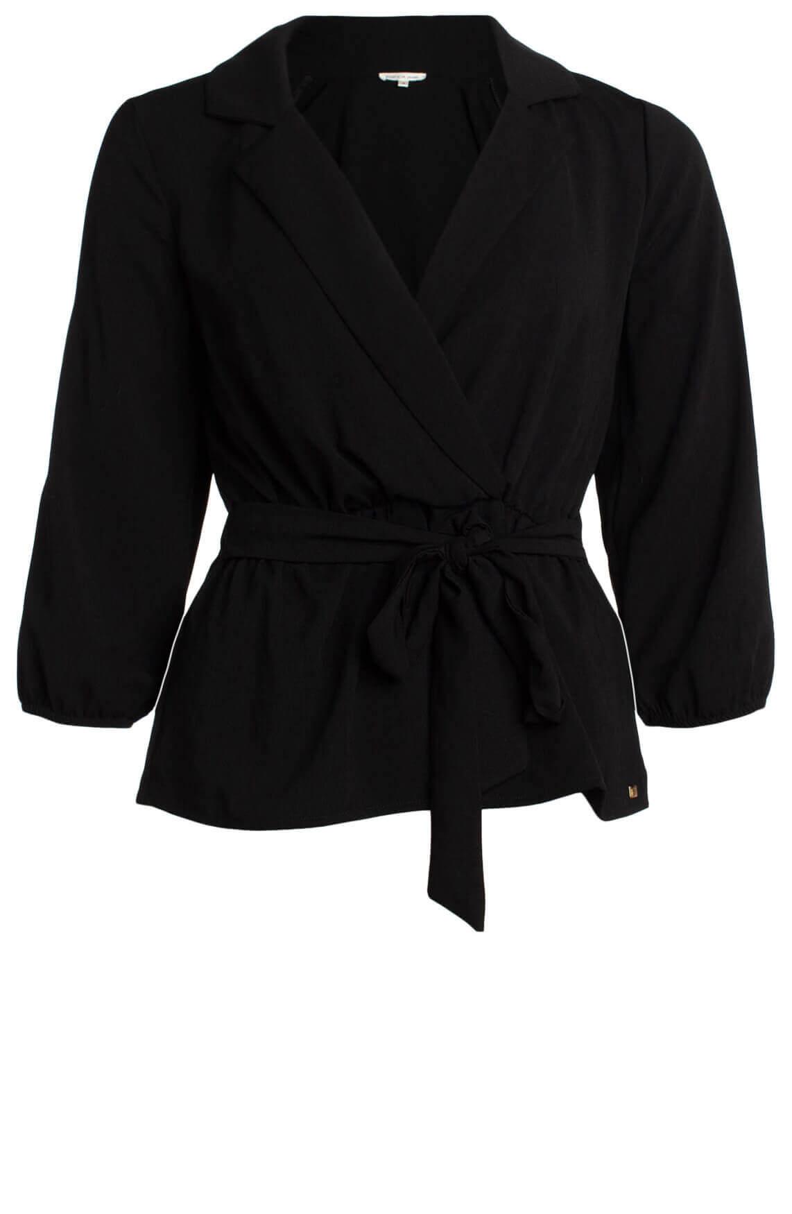 Kocca Dames Aladin blouse met ceintuur zwart