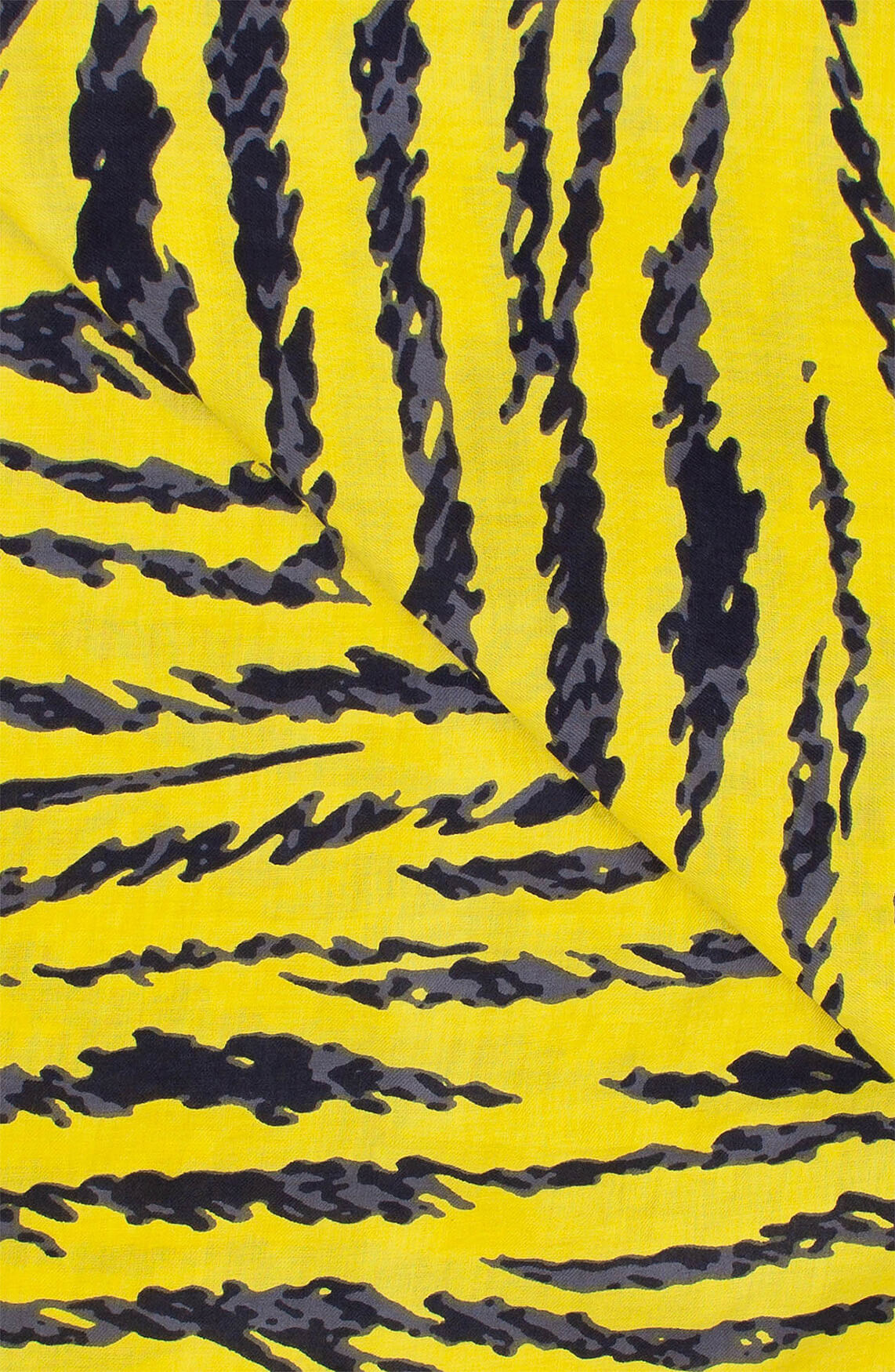 Anna Blue Dames Shawl met animalprint geel