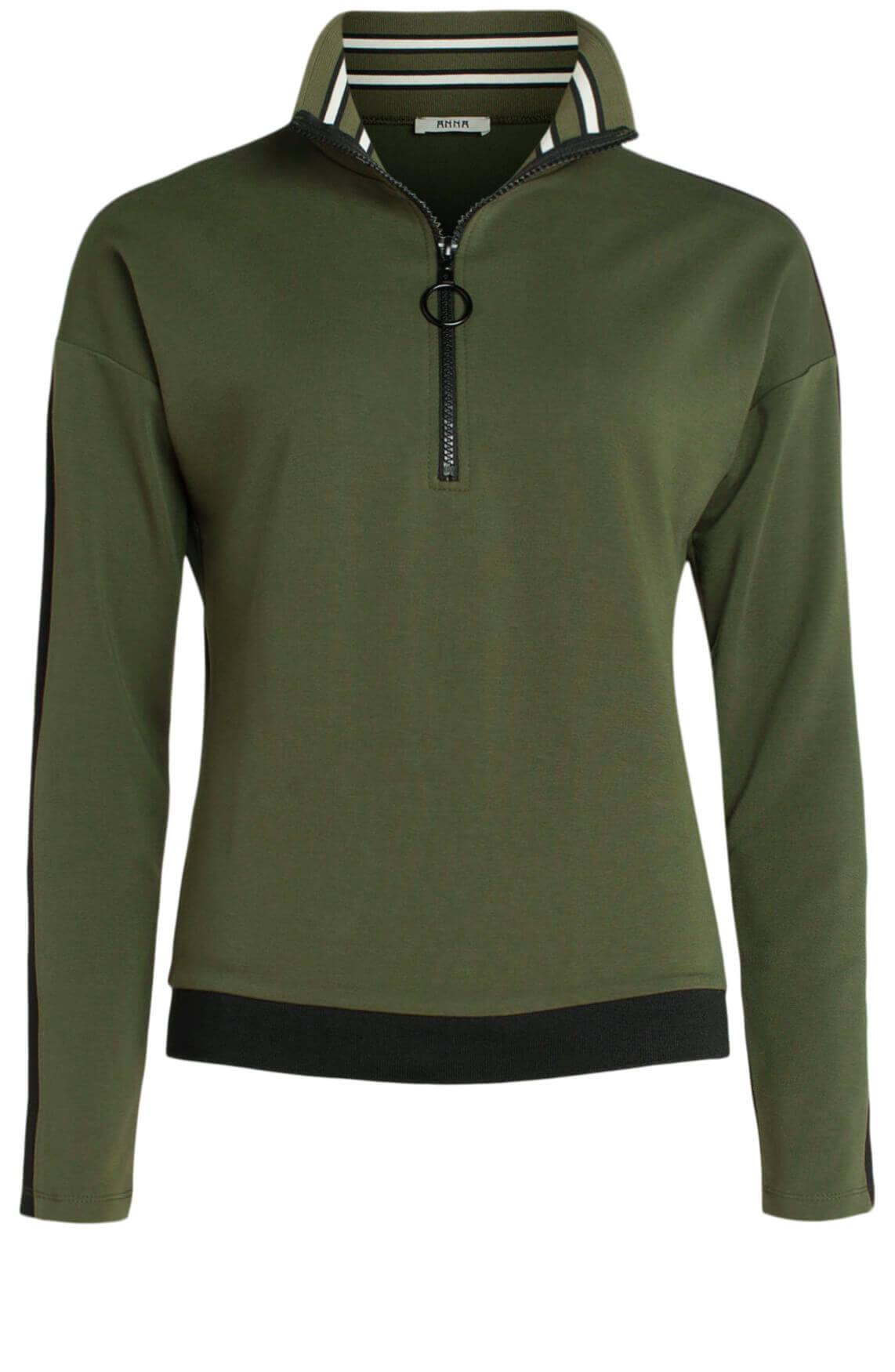 Anna Dames Sweater groen
