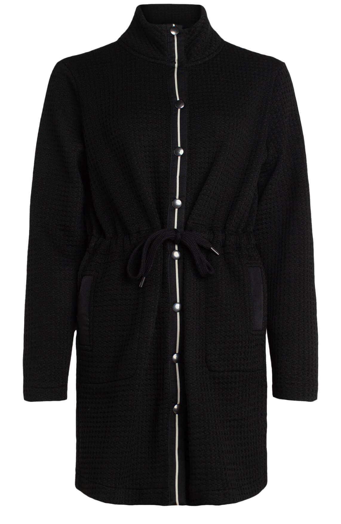 Anna Dames Vest met reliëf zwart
