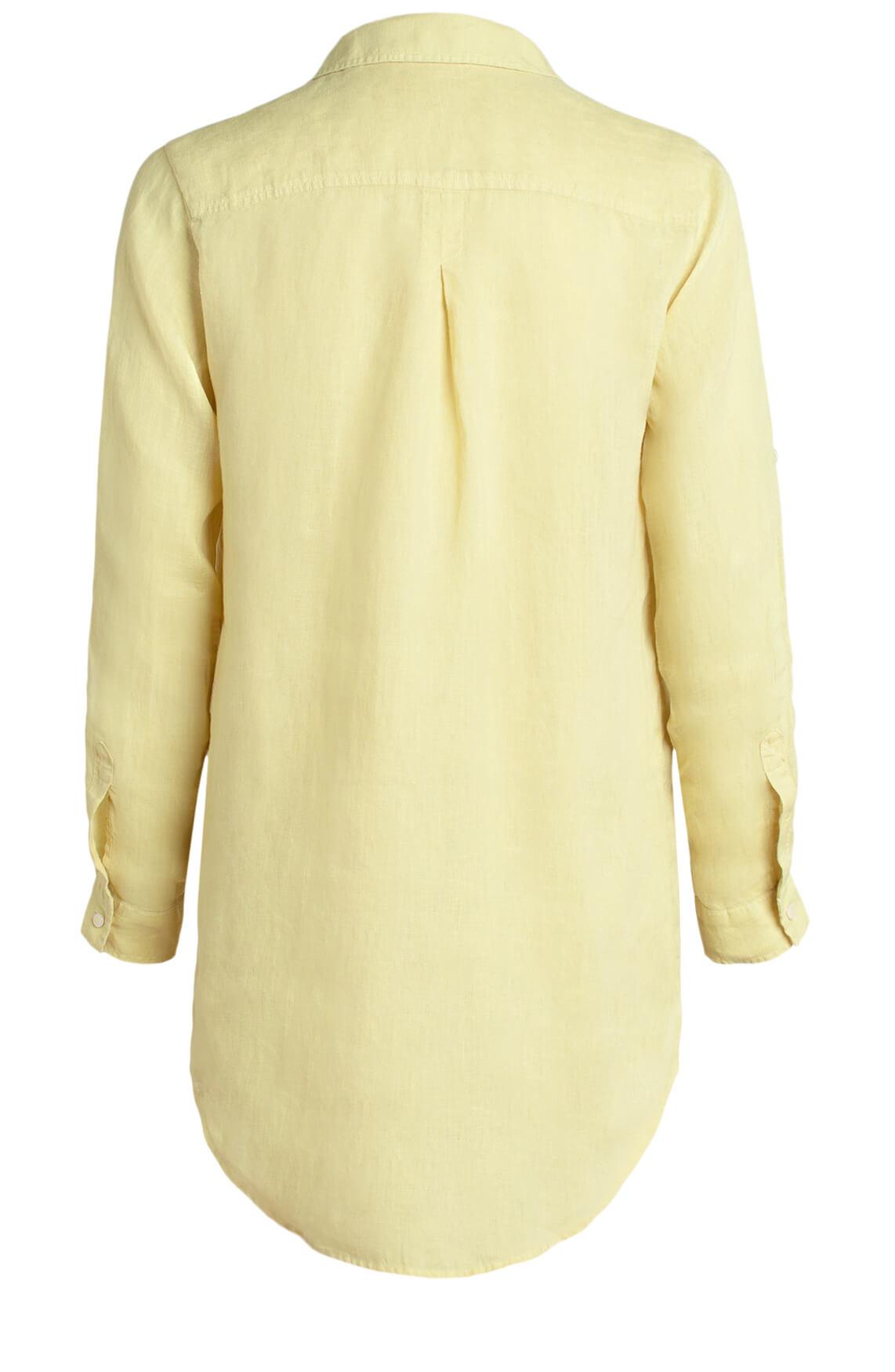 Moscow Dames Linnen blouse geel
