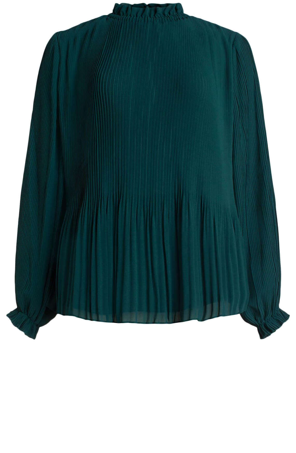 Samsoe Samsoe Dames Mindy plissé blouse groen