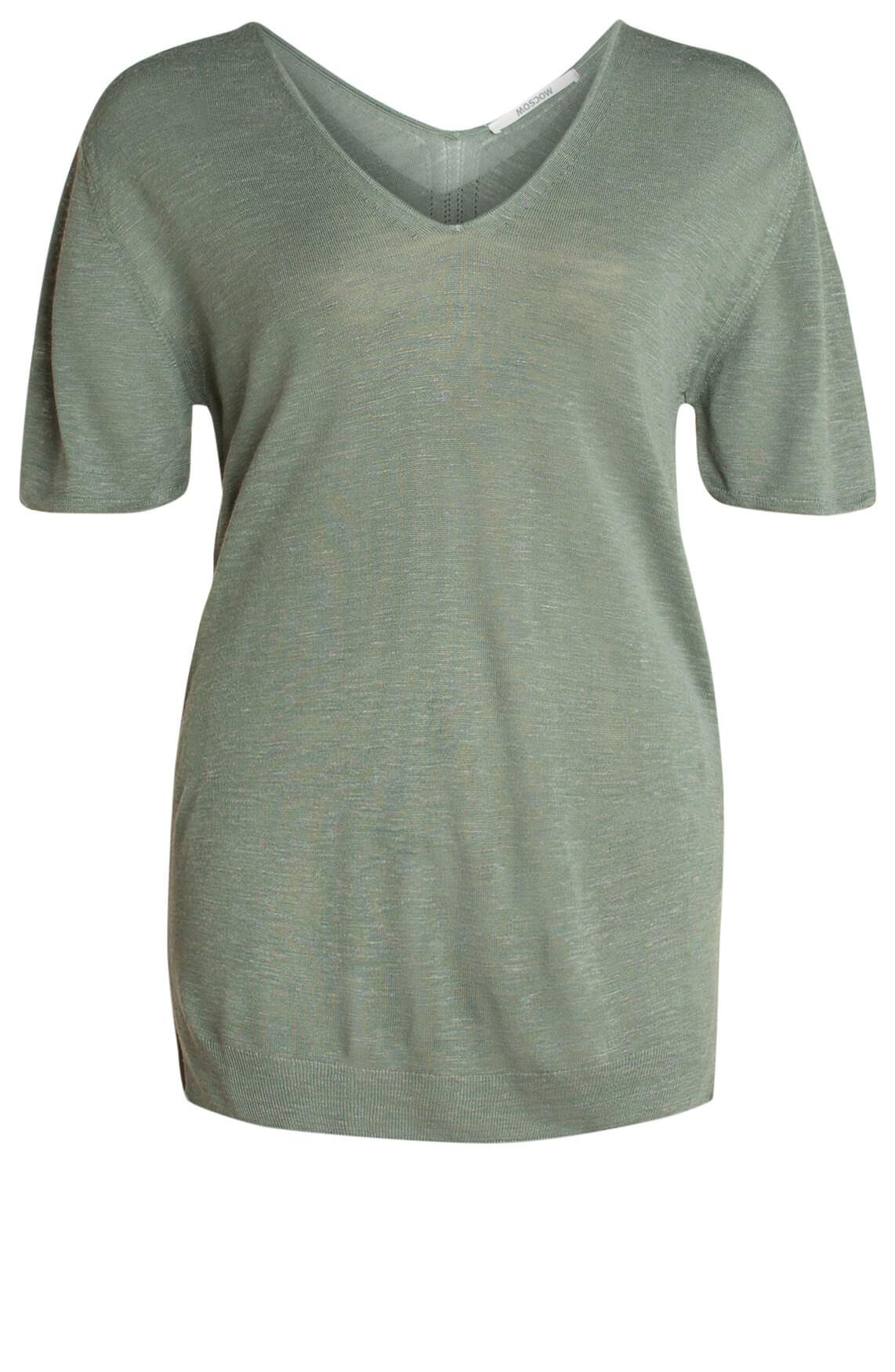 Moscow Dames Shirt met dessin groen